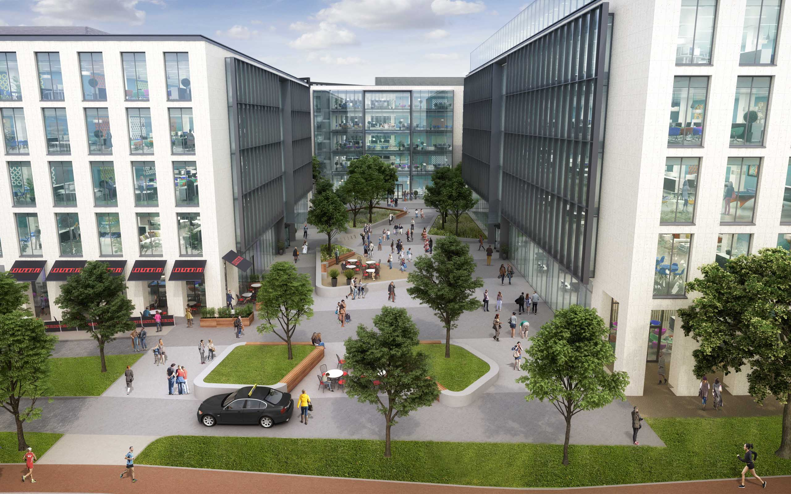 Architectural CGI of new offices on the former FAAC Site, Sandyford.