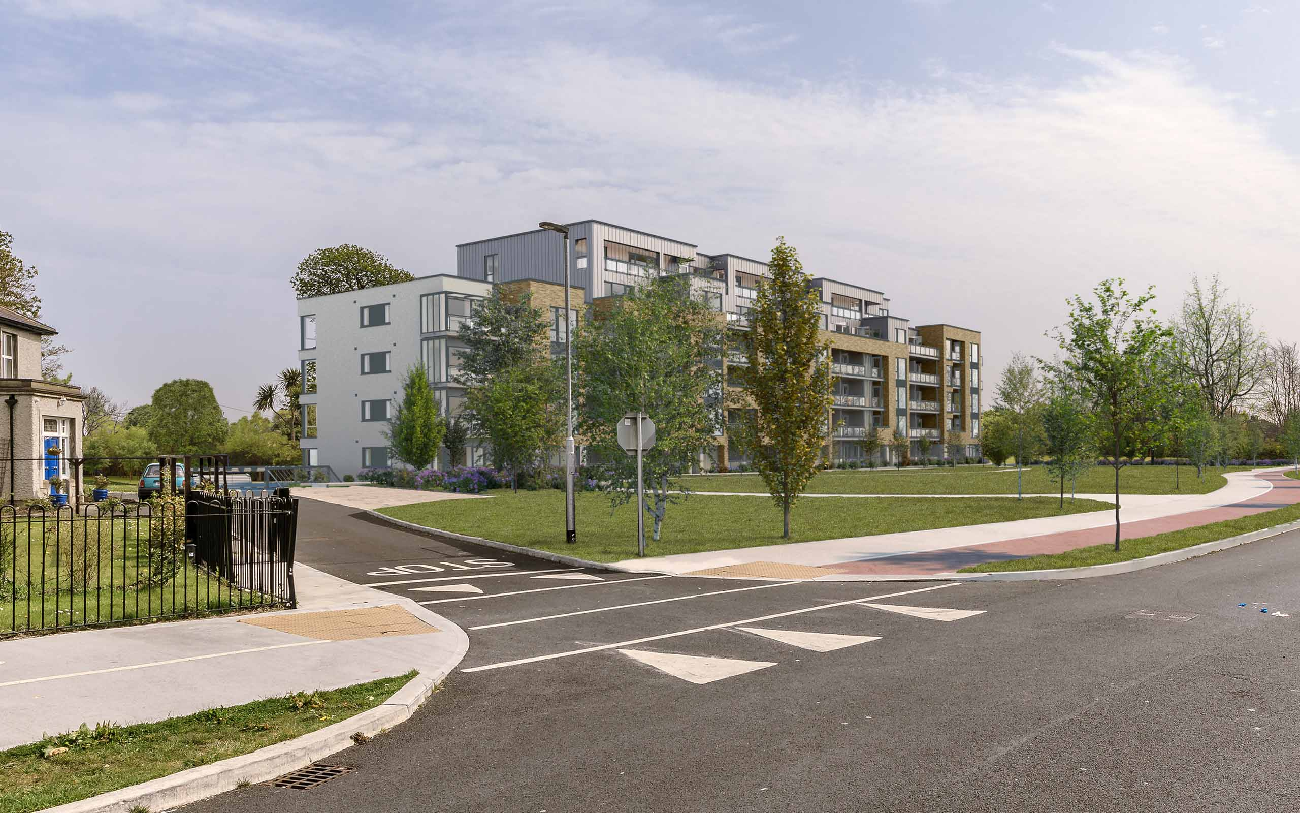 Verified view montage of 88 apartments at Chanel College site, Coolock.
