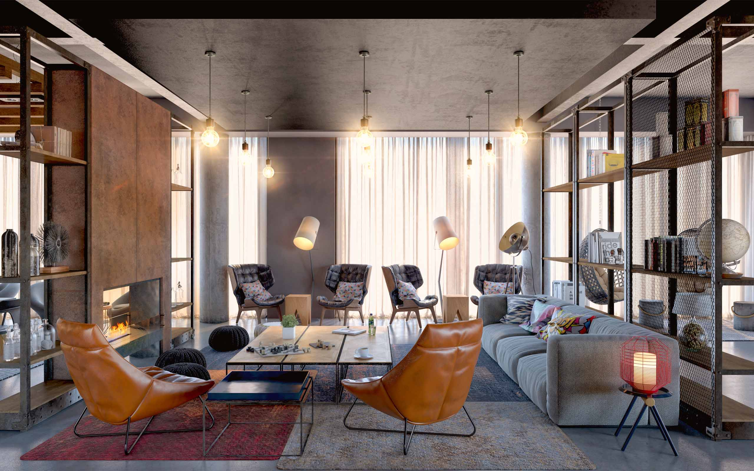Interior CGI of Moxy Hotel on Sackville Place, Dublin City.