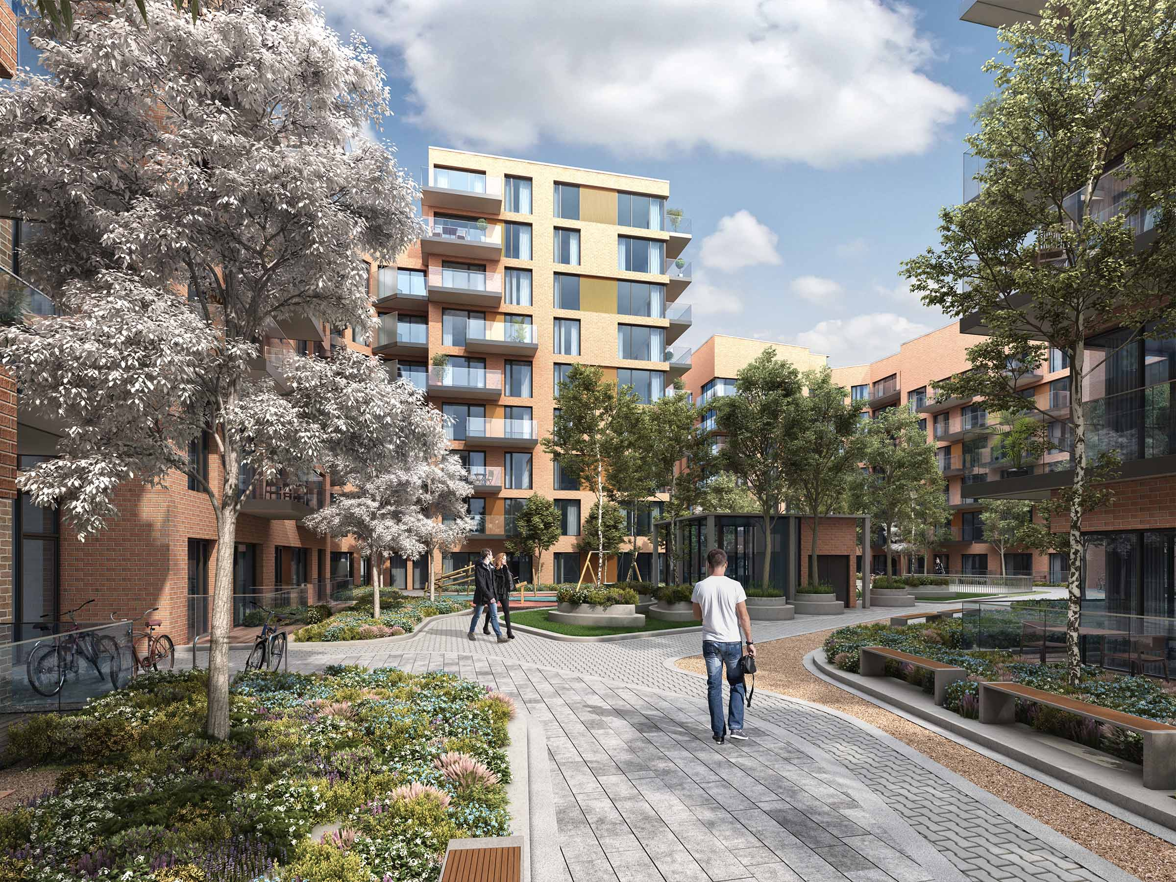 Architectural CGI of Belgard Road SHD.