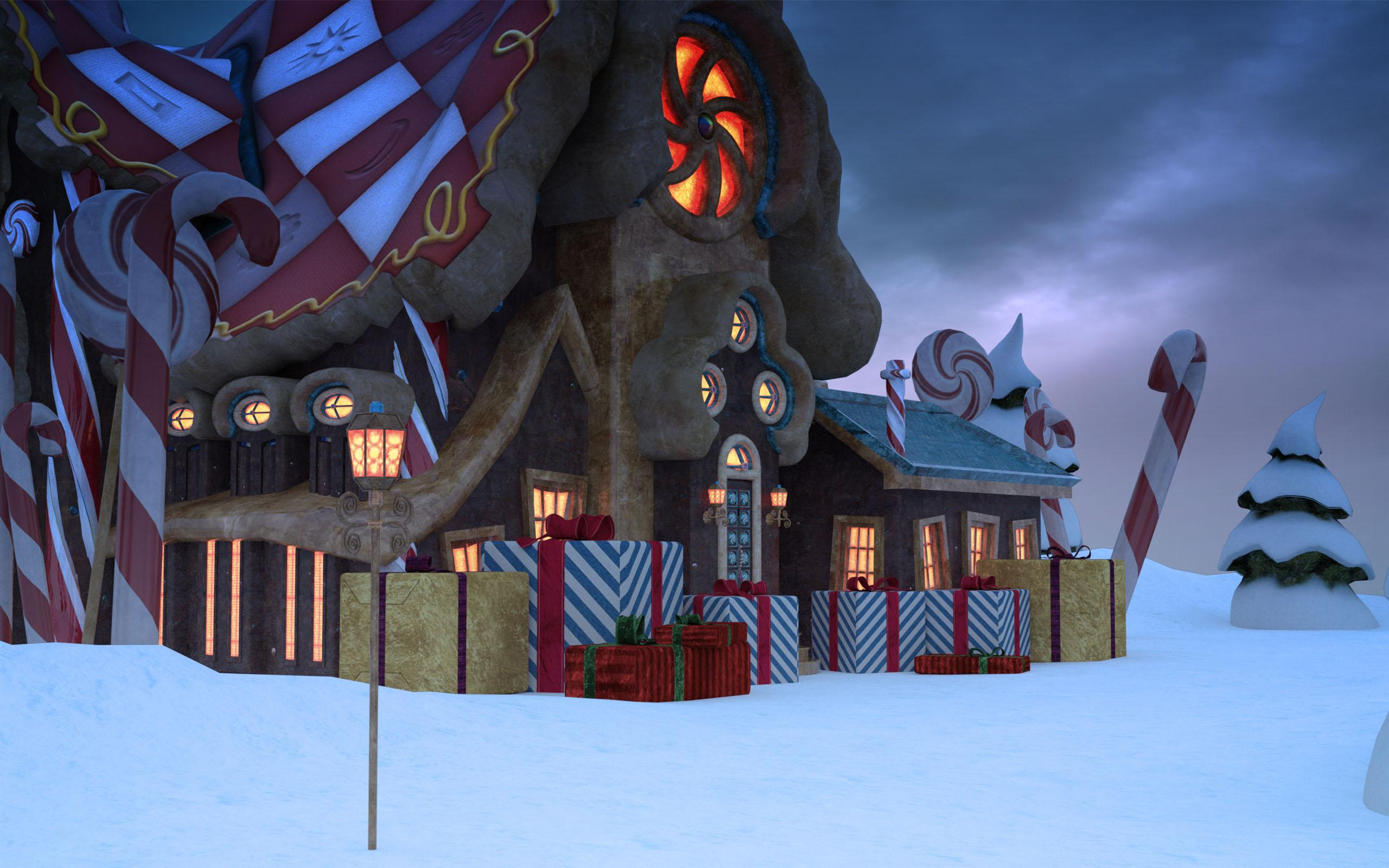 A CGI studio's impression of the Reindeer's Retreat in Santa's New €160 Toy Workshop