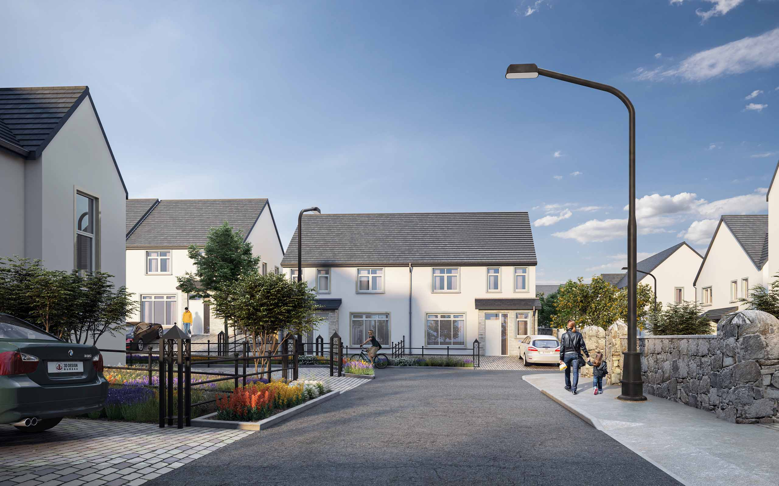 Architectural CGI of Ravens Mill SHD, Rowlestown, Swords, Dublin