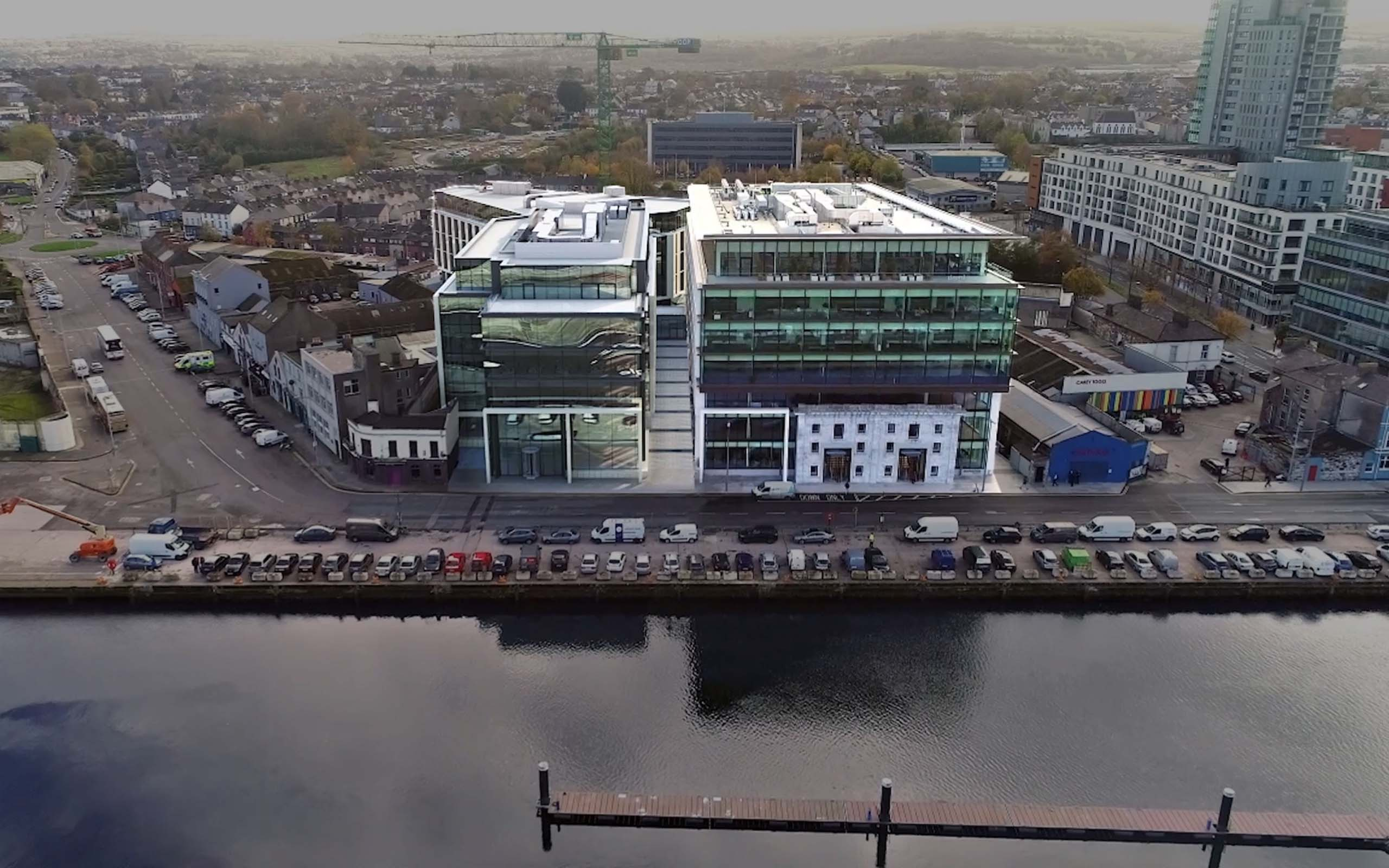 Navigation Square in Cork City's Docklands by O'Callaghan Properties.