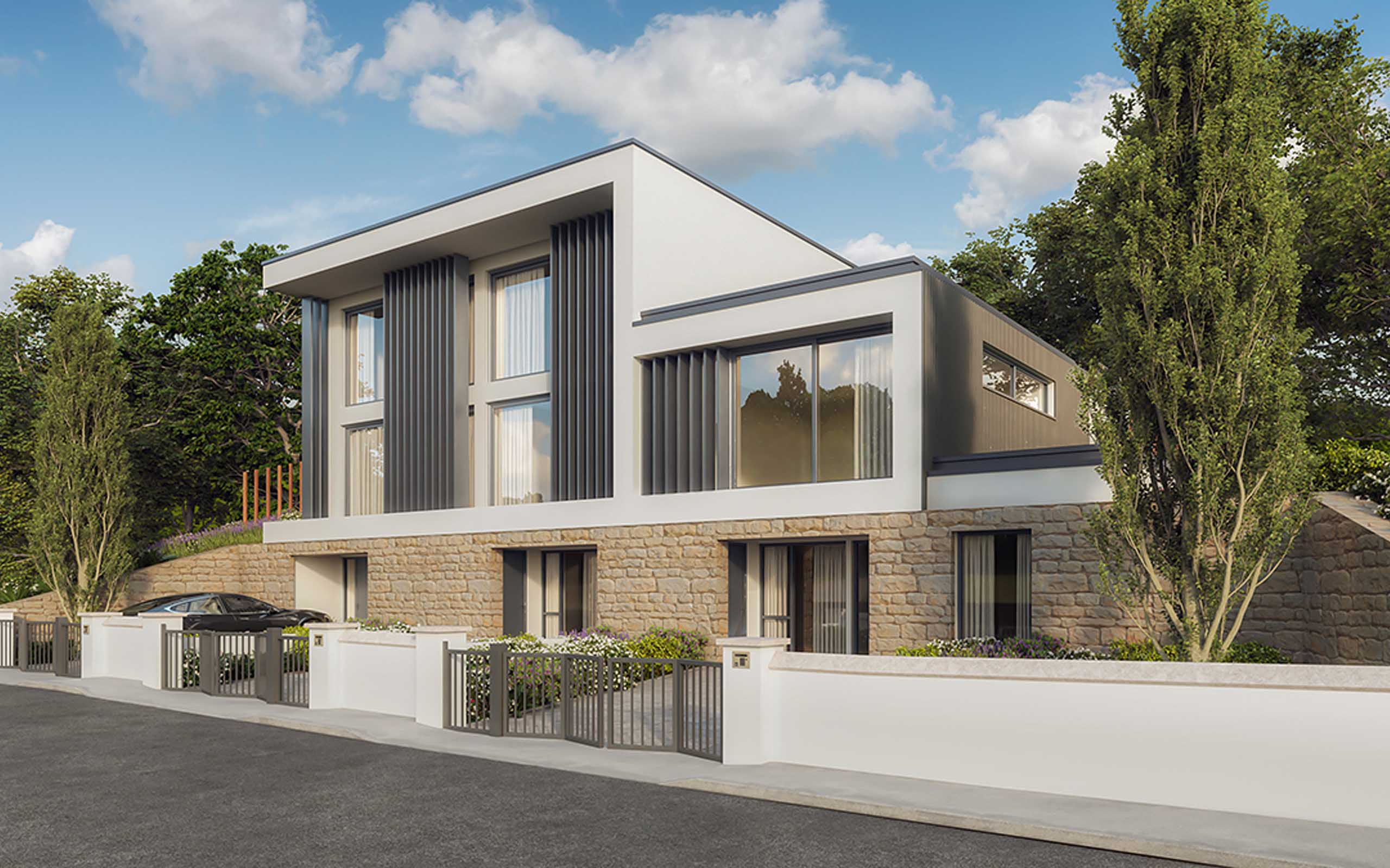 Architectural CGI of Luxury Residential Development, Dalkey.