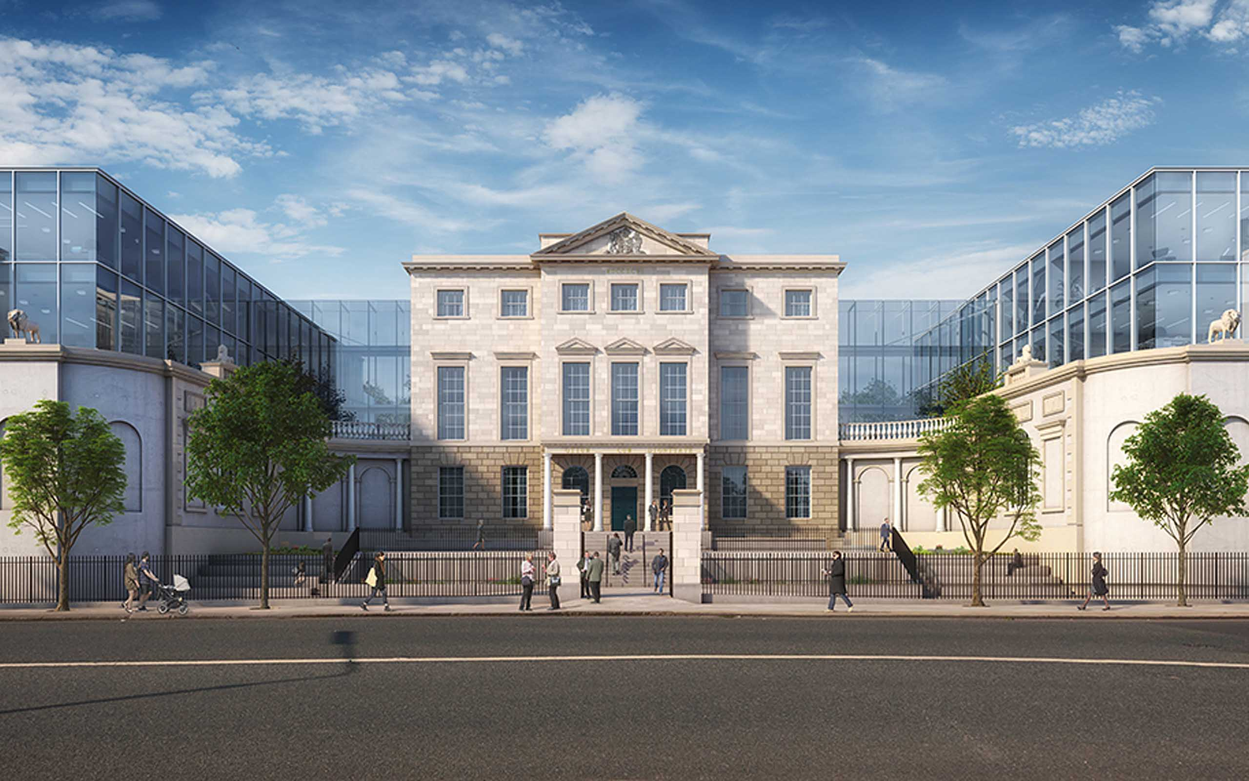 Architectural CGI of Aldborough House Office Redevelopment, Portland row, Dublin 1.