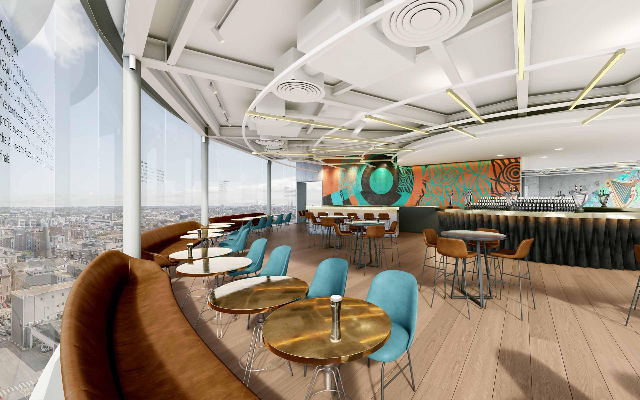 Interior CGI of new Guinness Storehouse's Gravity Bar
