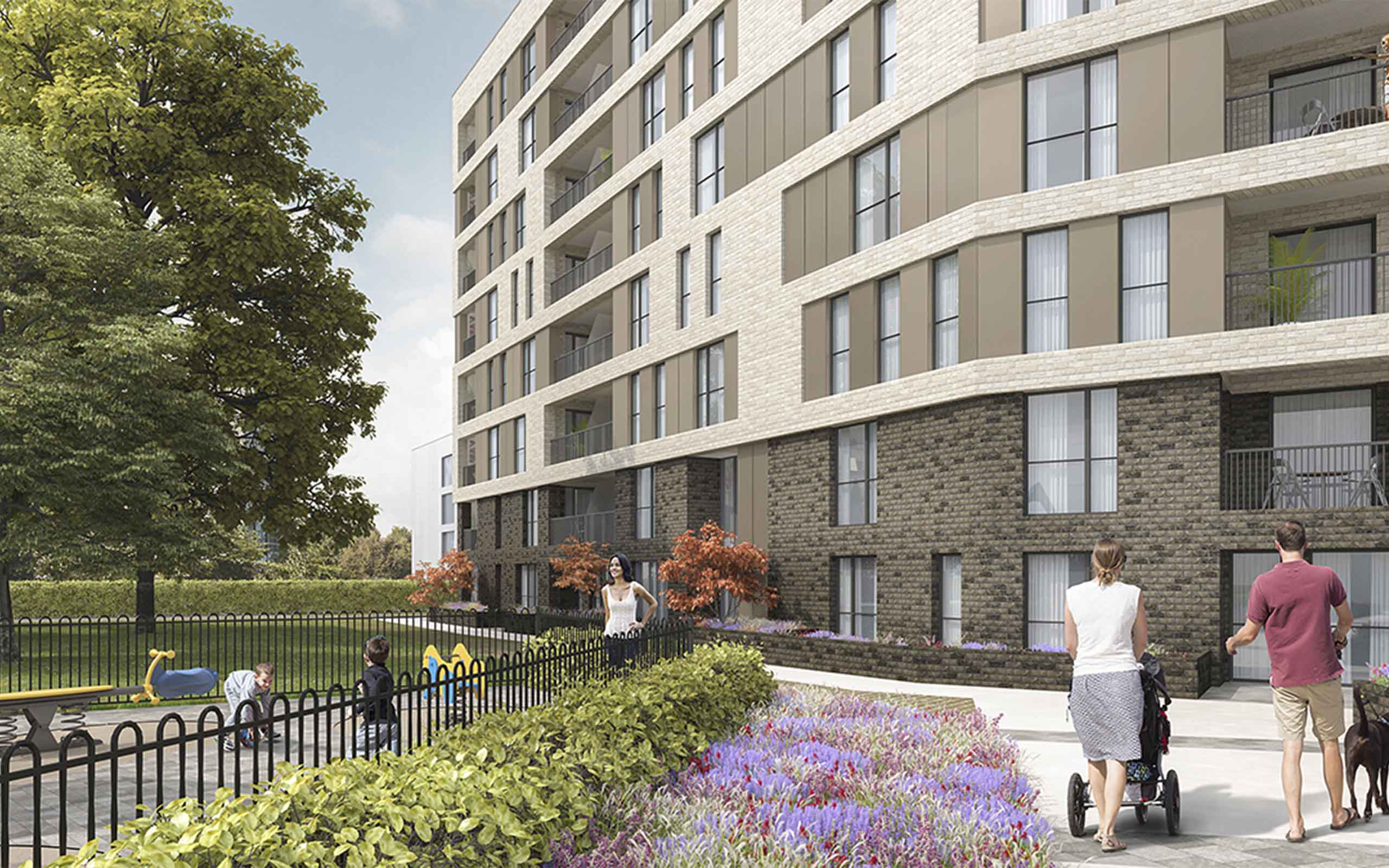 Architectural CGI of Santry Mix-Use Development, Northwood, Santry