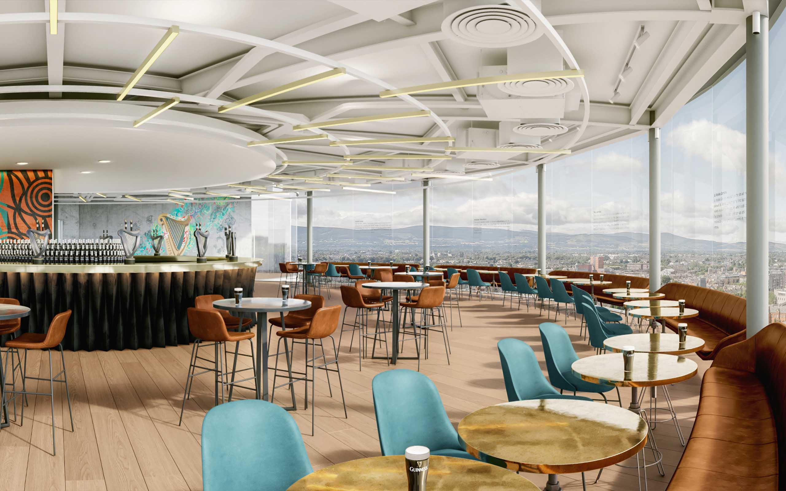 Interior CGI of the Guinness Storehouse's new €20m Gravity Bar