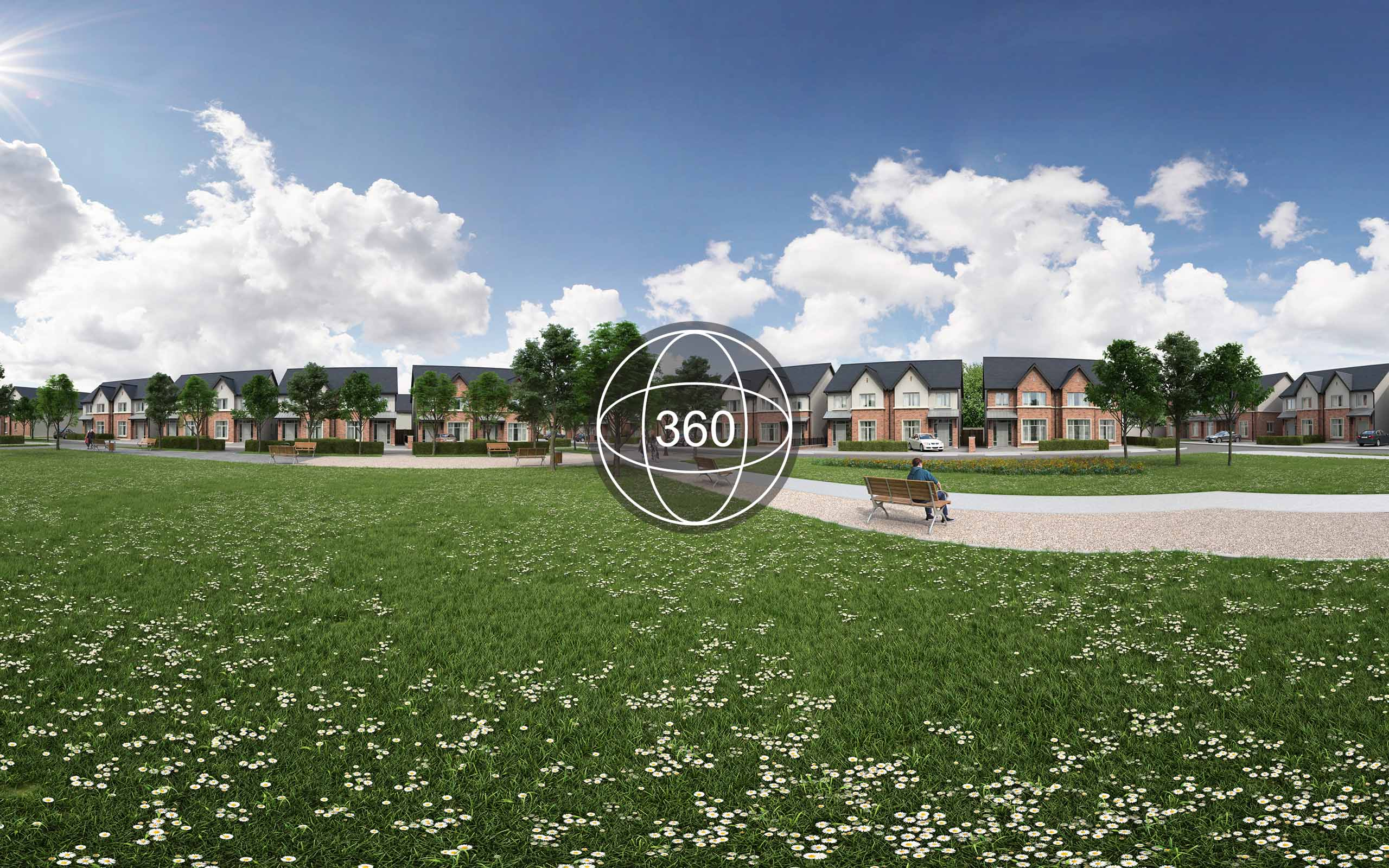Off plans 360 virtual tour of Castlefarm housing development in Naas.