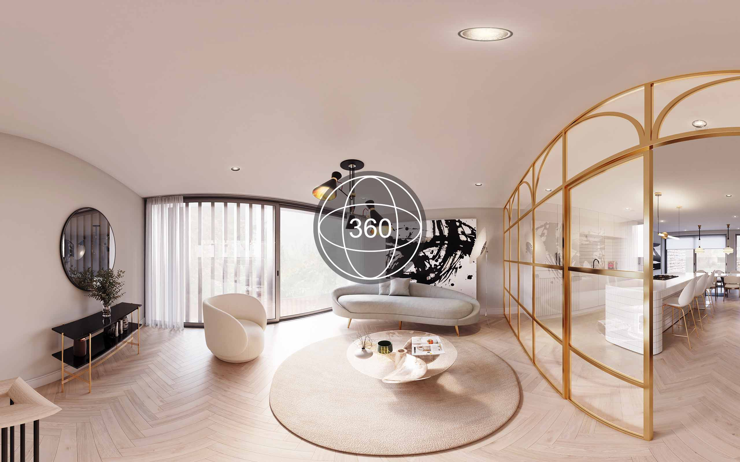 Off plans 360 virtual tour of North Design's interior designs of a housing development in Dalkey.