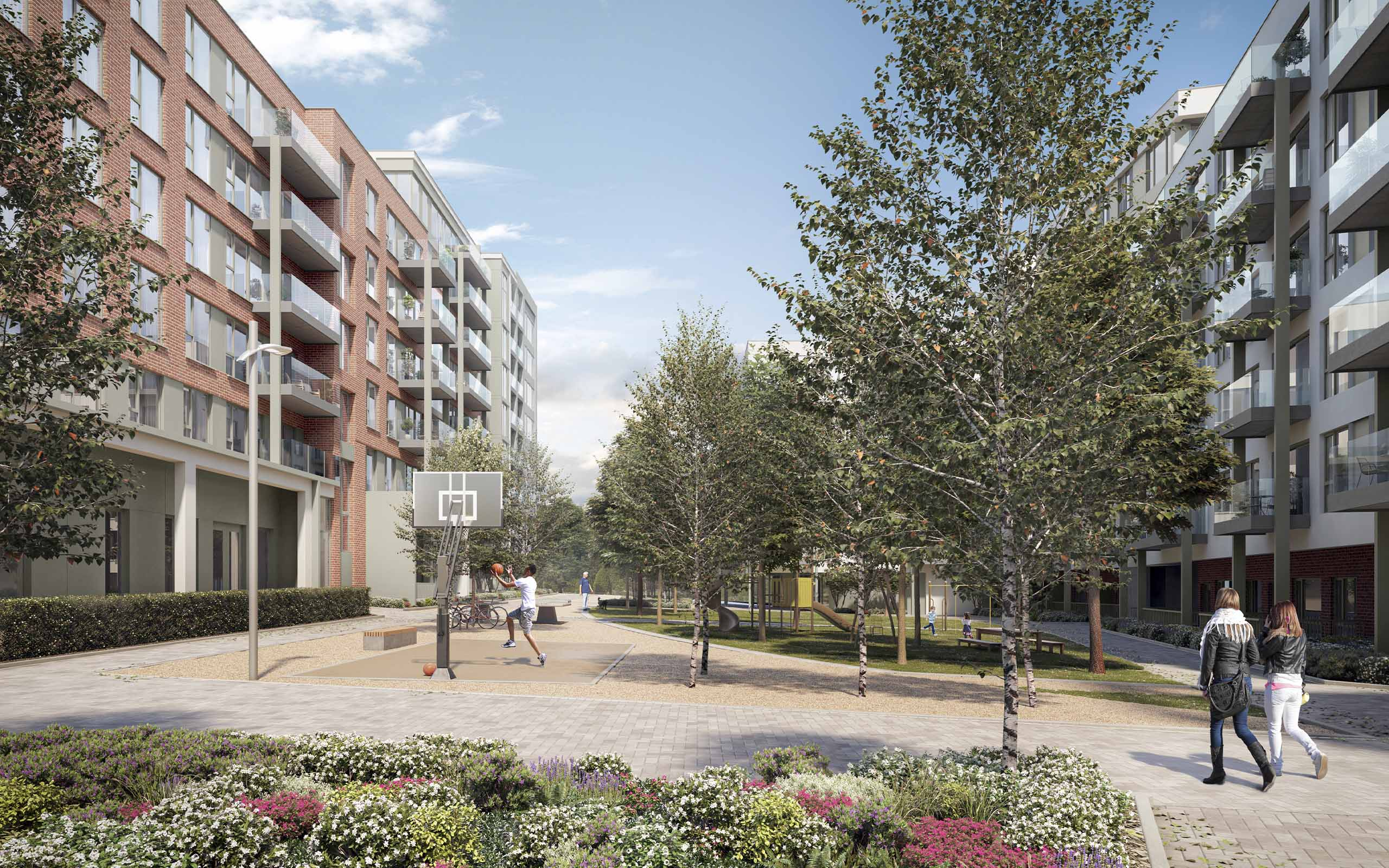 Architectural render of 502 apartments approved on Airton Road, Tallaght, Dublin.