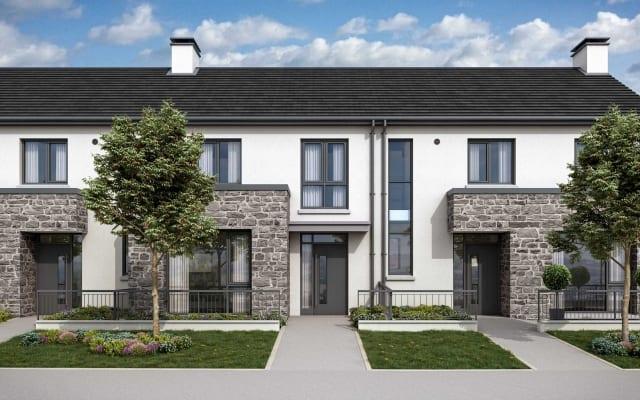 Architectural CGI-D of Oldtown Woods residential development in Celbridge, Co. Kildare.