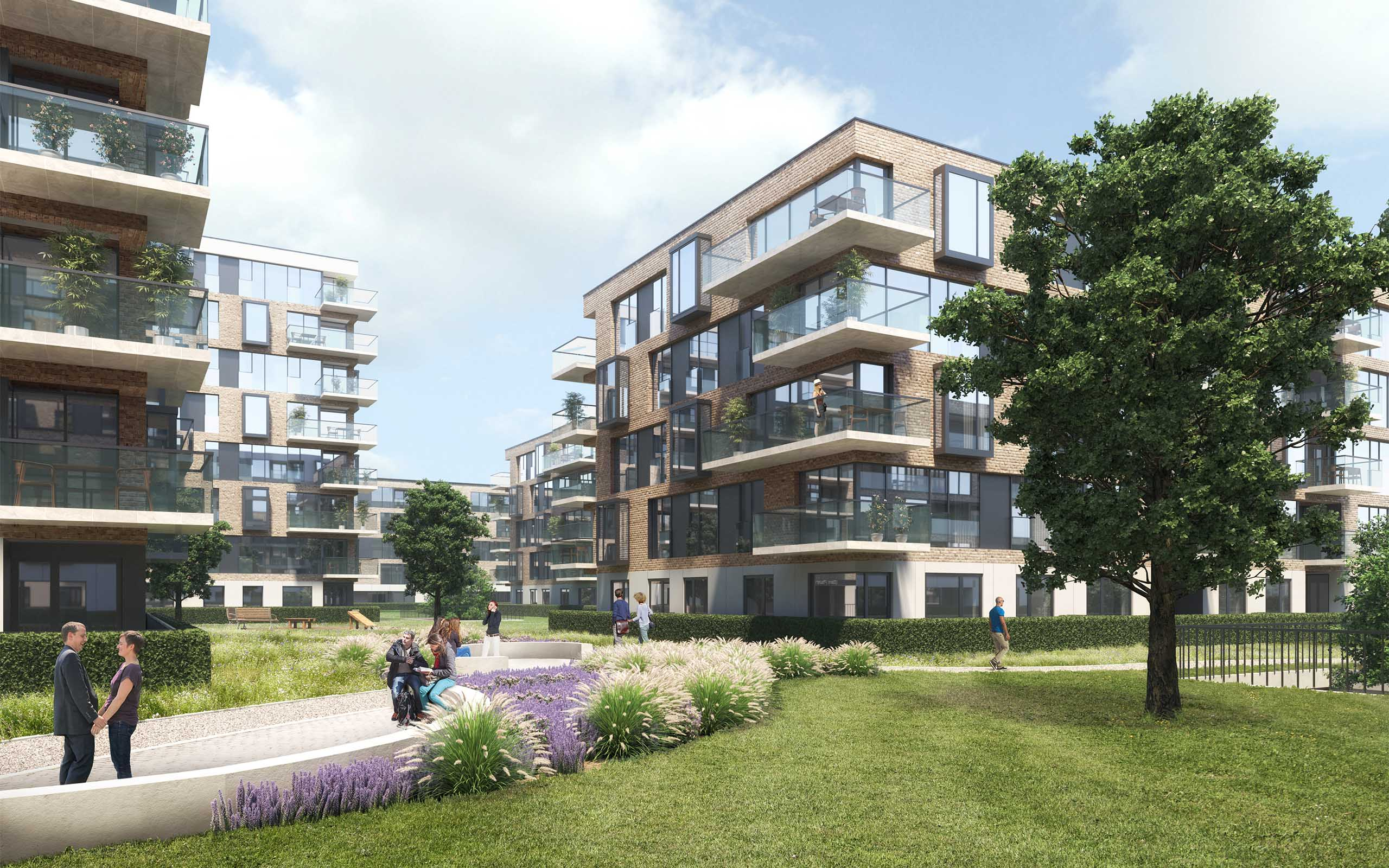 Architectural CGI of Foxlands Strategic Housing Development, Raheny, Dublin 3.