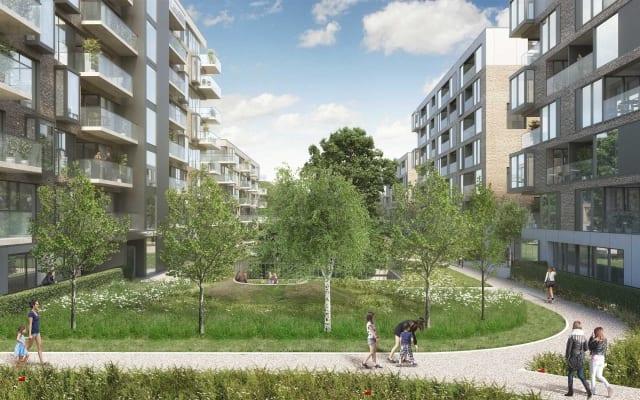 Architectural CGI of Foxlands Strategic Housing Development, Raheny, Dublin 3.