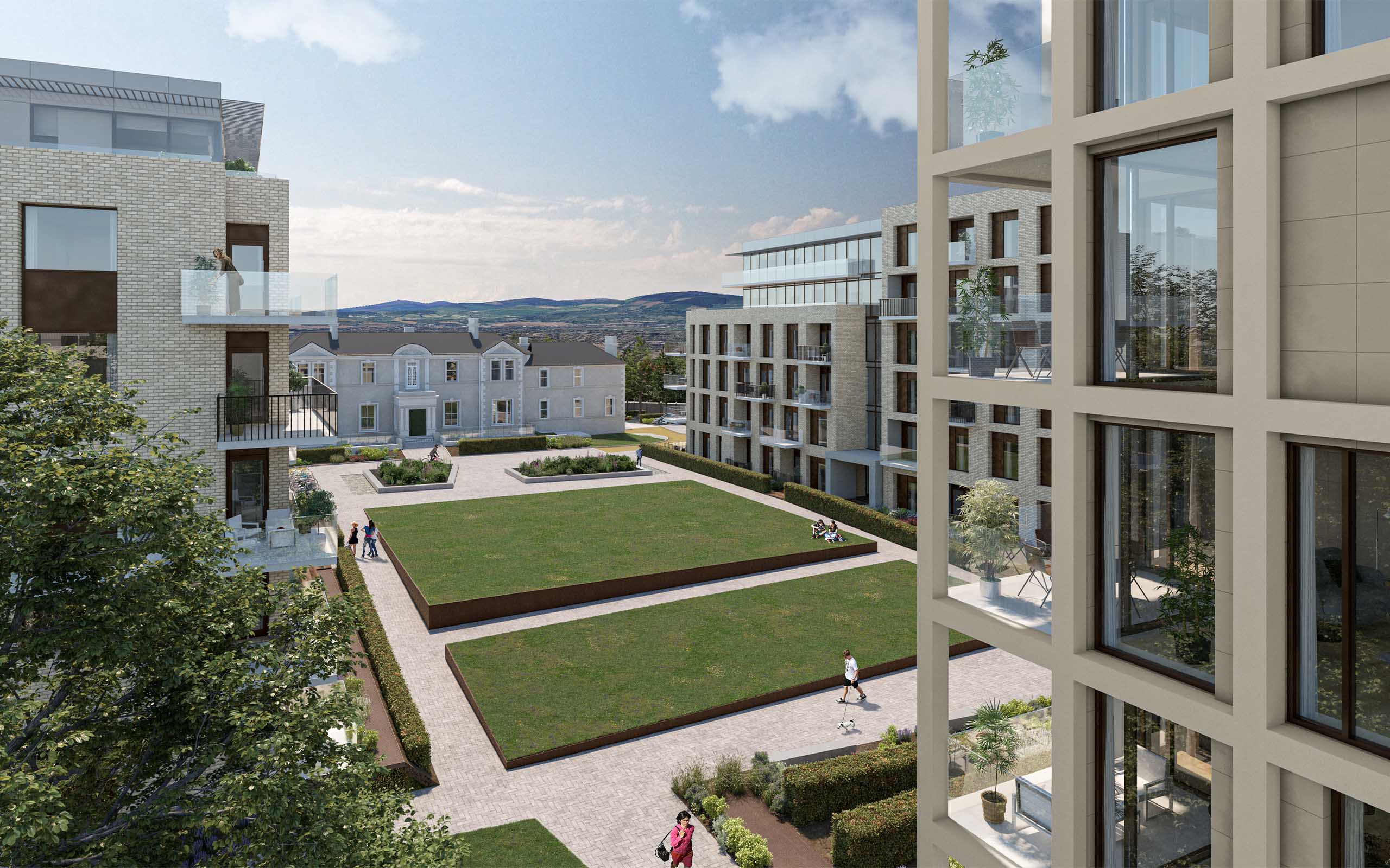Architectural CGI of Dalguise SHD, Monkstown, South Dublin.