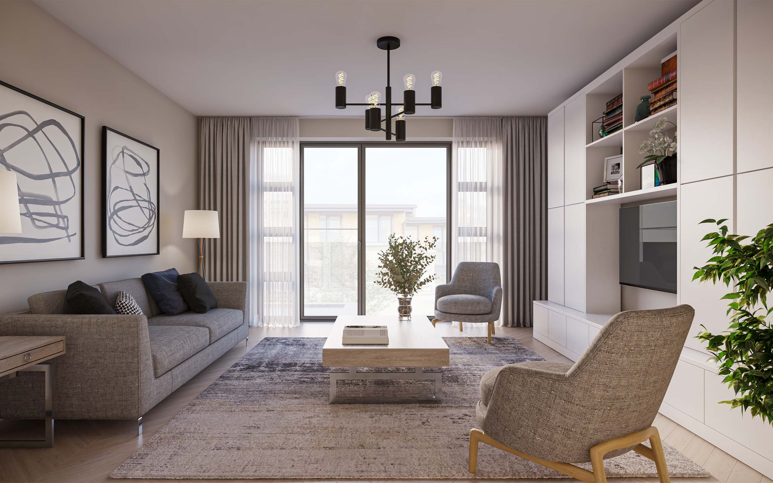 Virtual Staging of a luxury housing development.