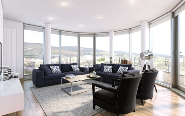 Virtual Staging of a luxury apartment development.