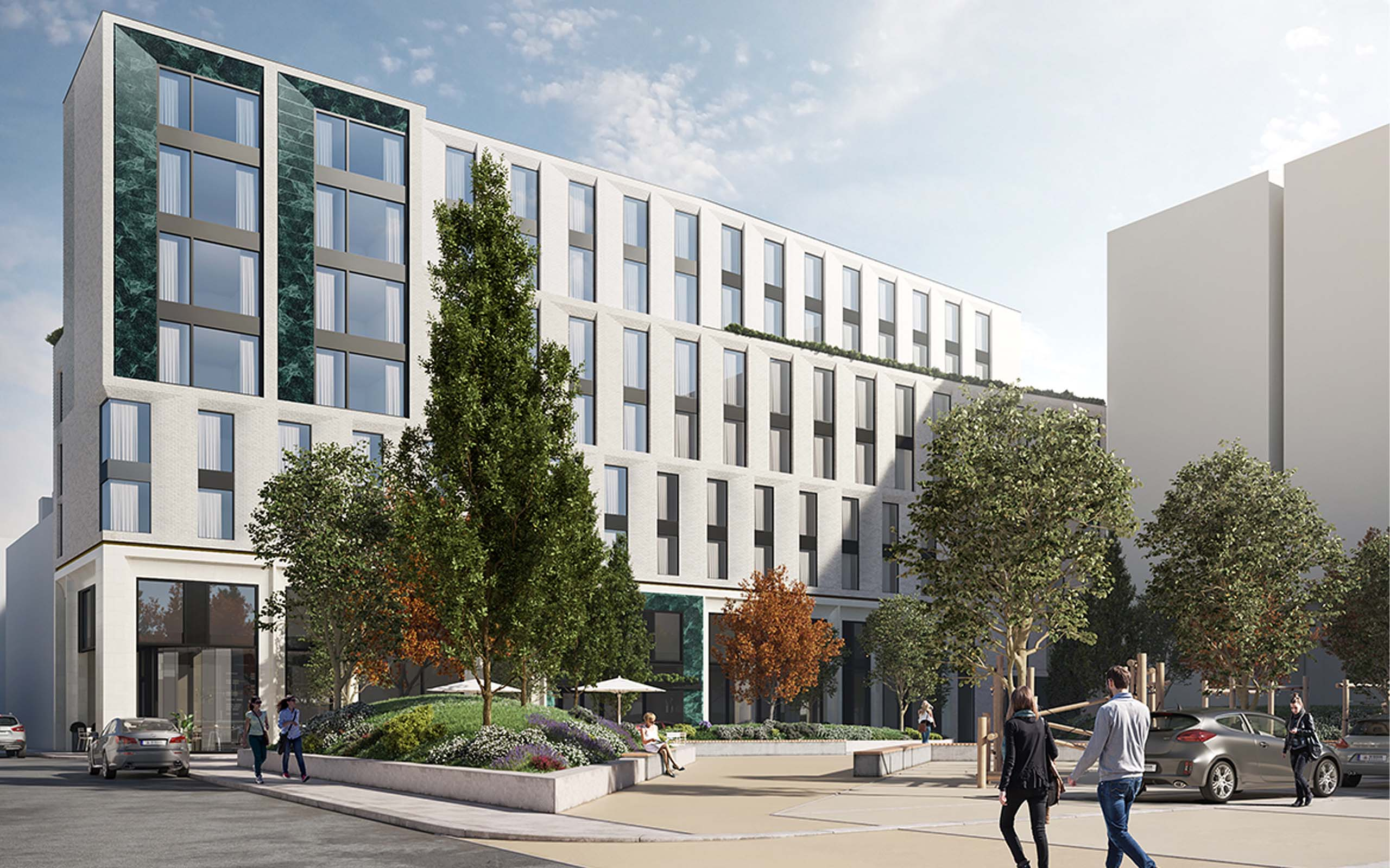 Architectural CGI of the Molyneux Hotel, Dublin's Liberties.