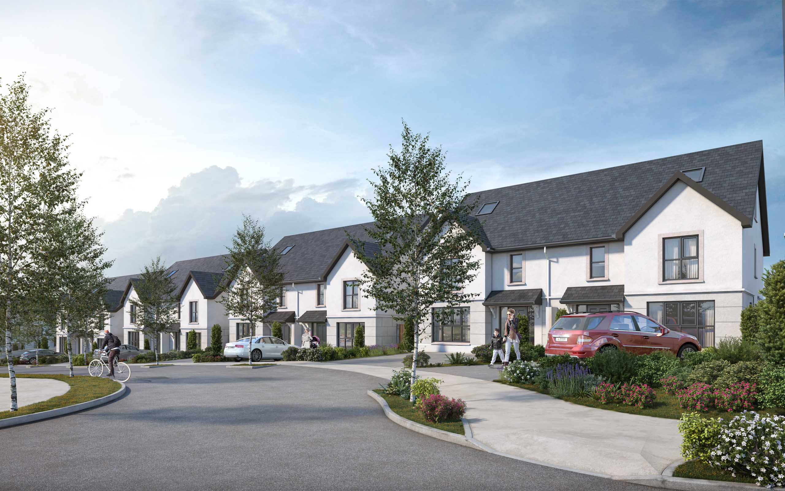 Architectural CGI of Newton View, Tramore, Waterford.