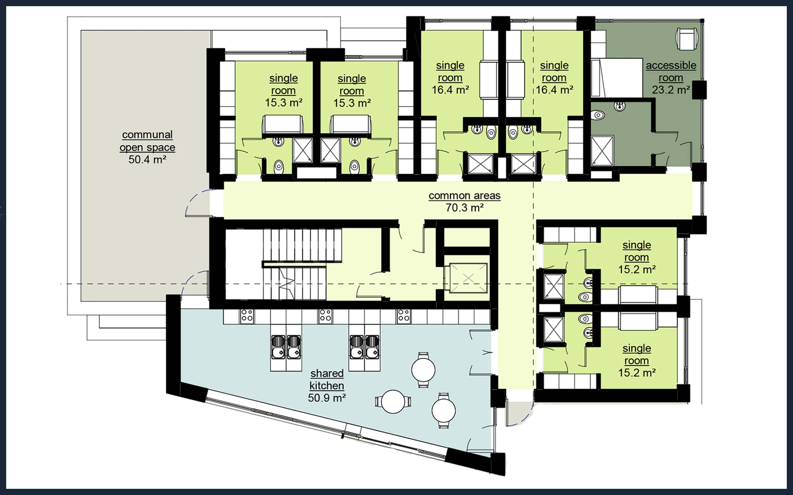 2D Floor Plans of Apartment Development