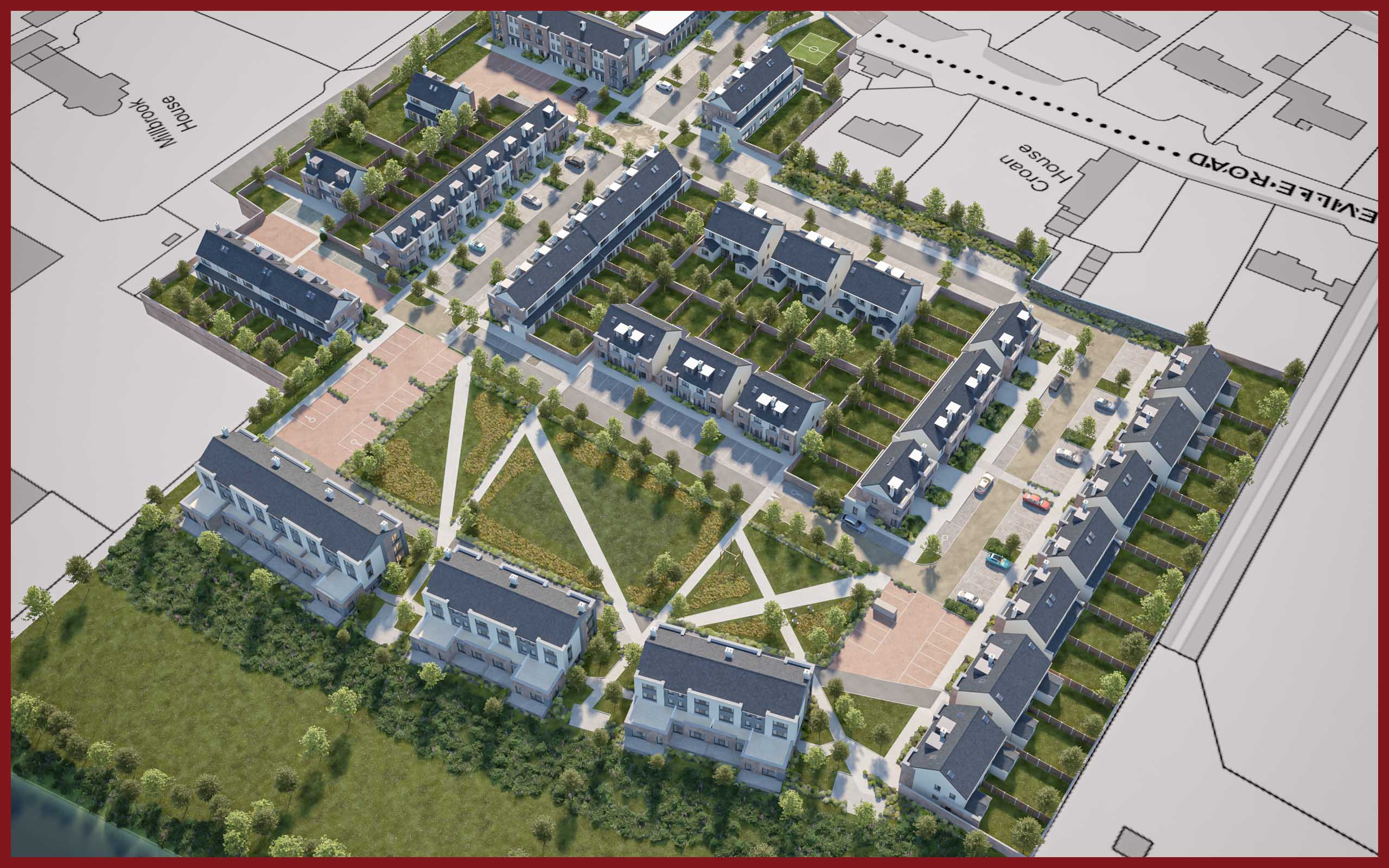3D Site Plans of Residential Development