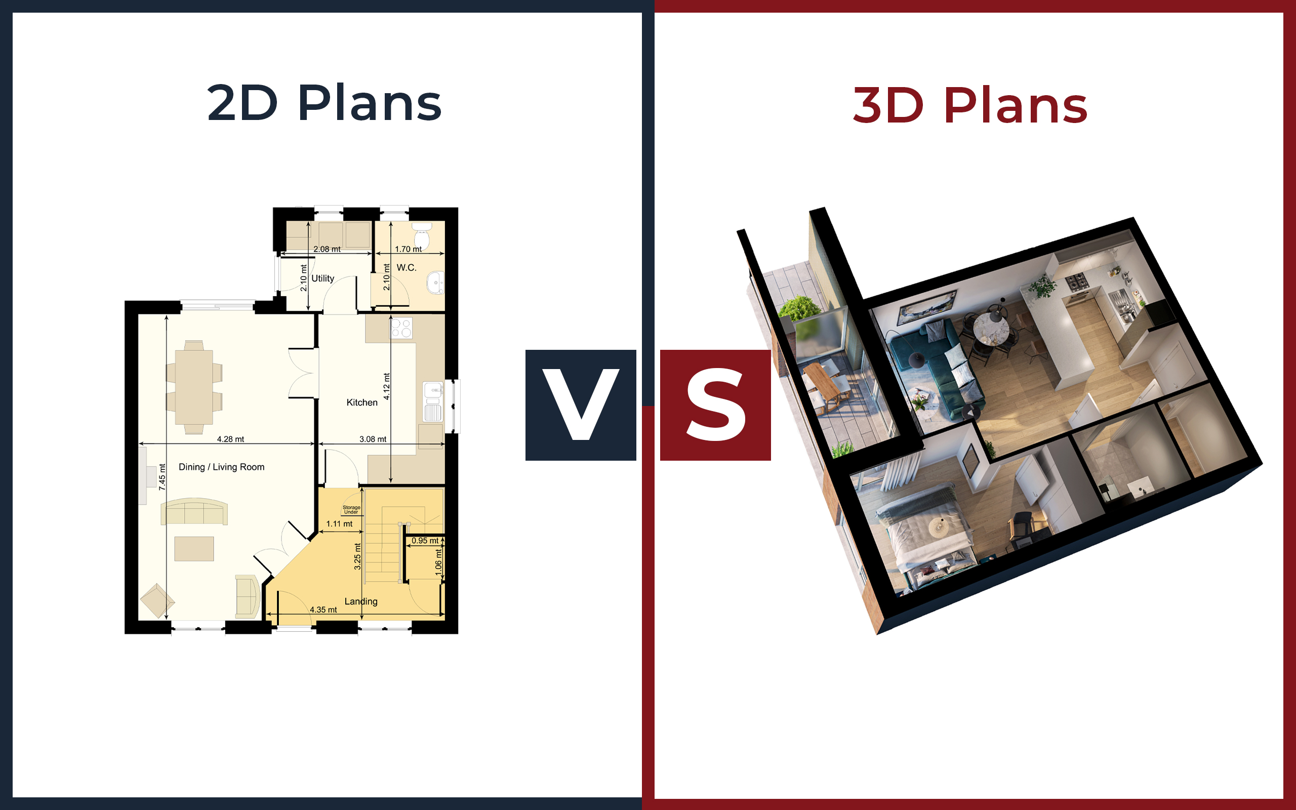 2D vs 3D Floor and Site Plans. Who wins?