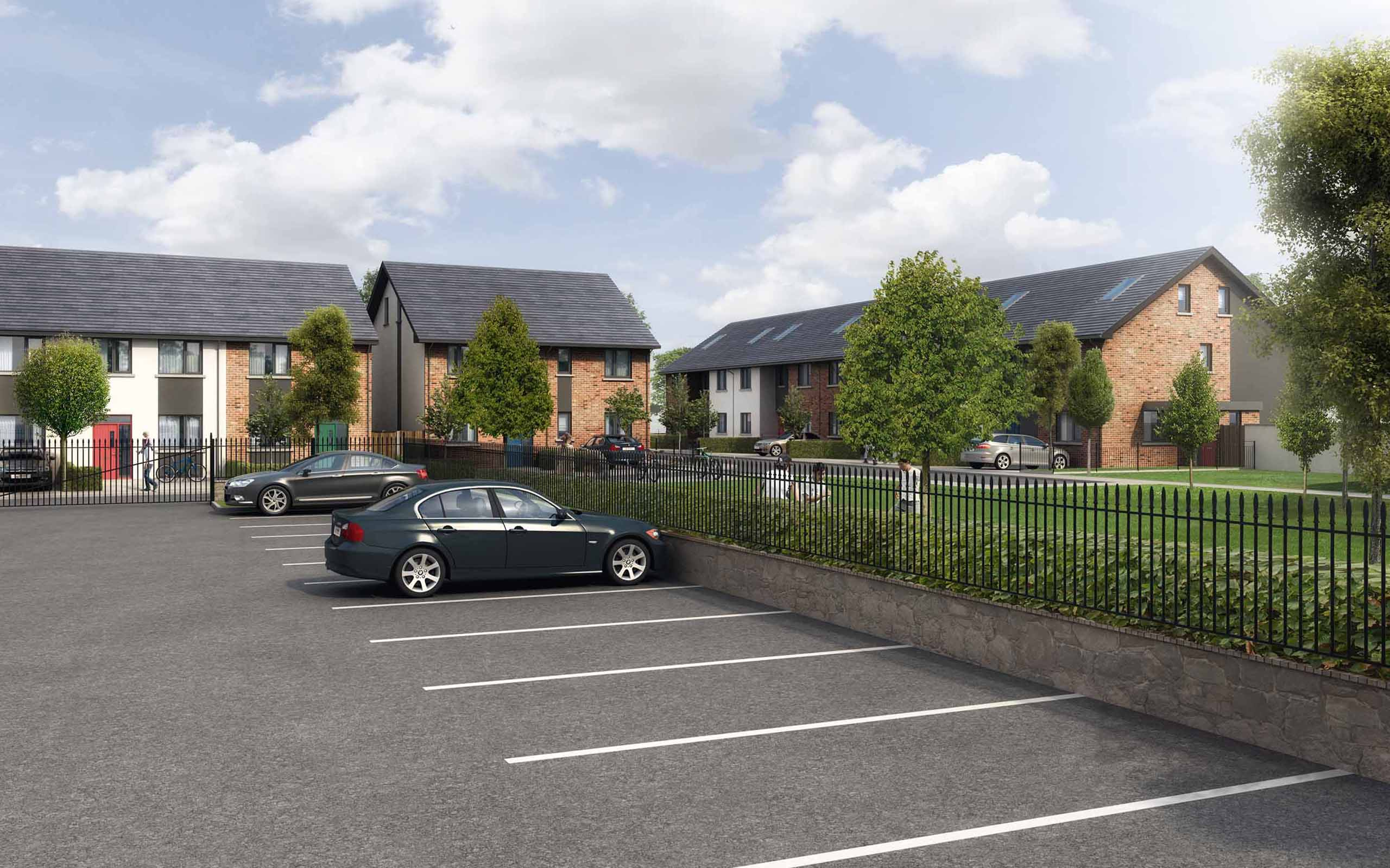 Architectural CGI of Fingal Affordable Housing Scheme