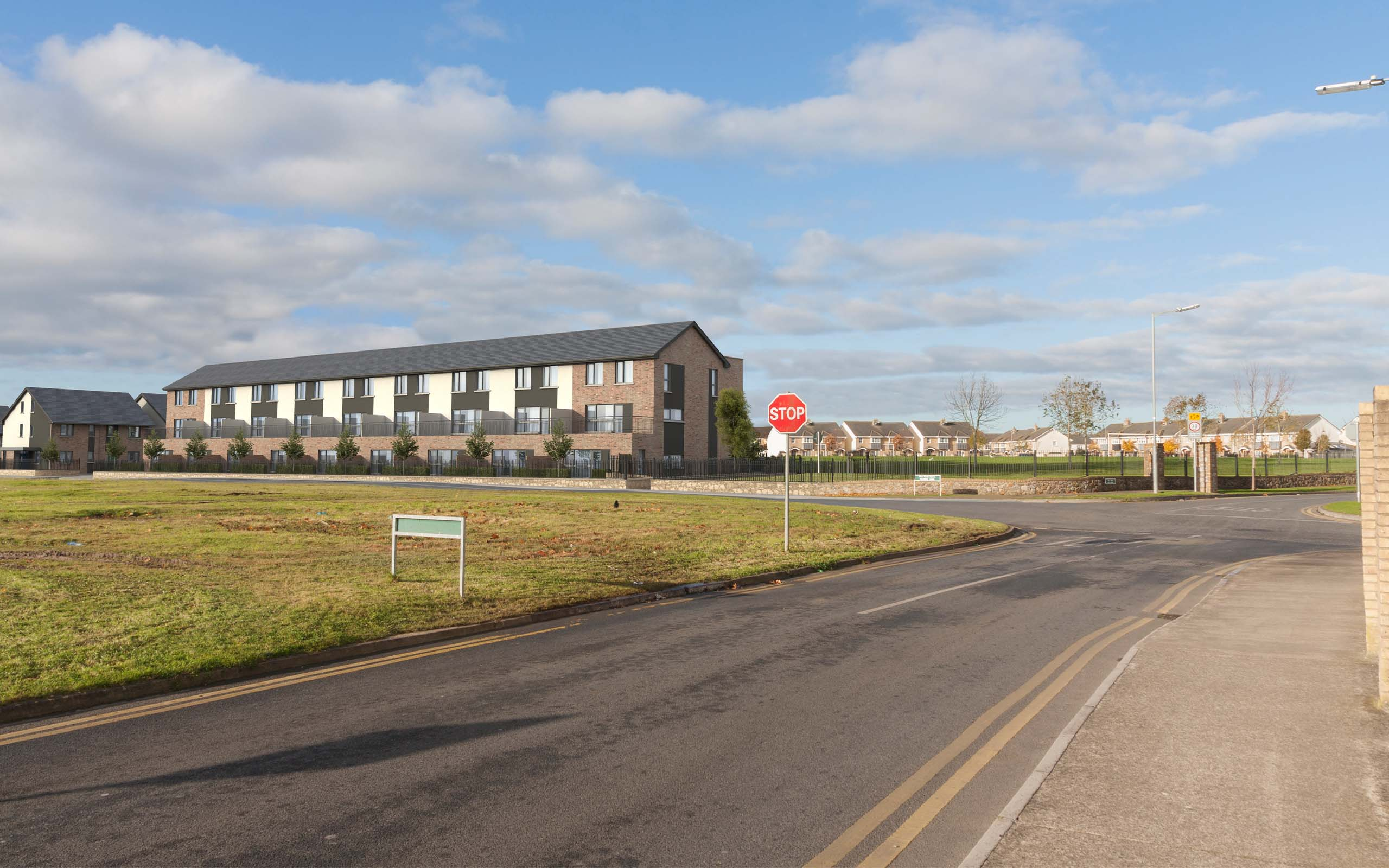 Verified View Montage of Fingal Affordable Housing Scheme