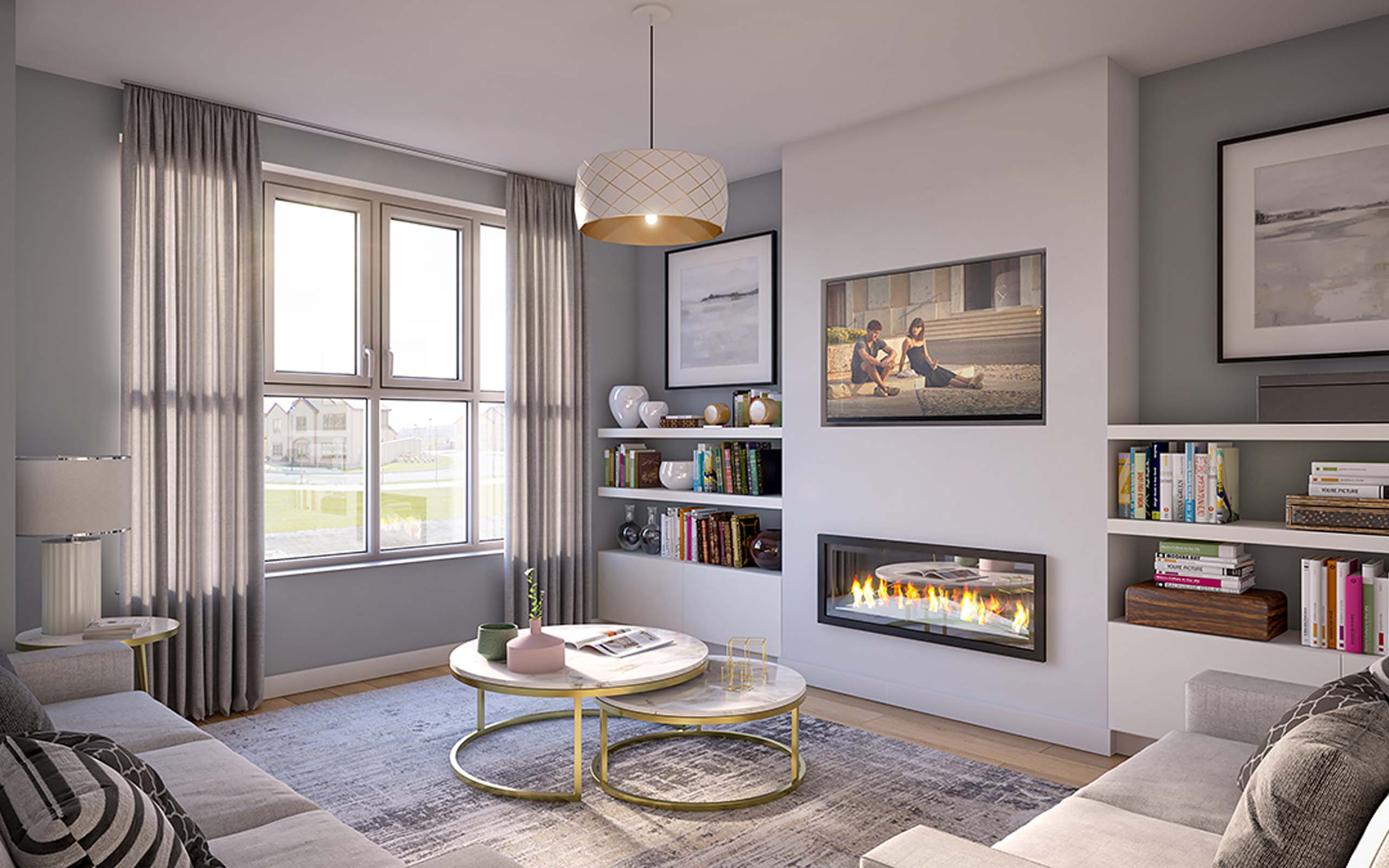 Interior CGI of Newton View, Tramore, Waterford.