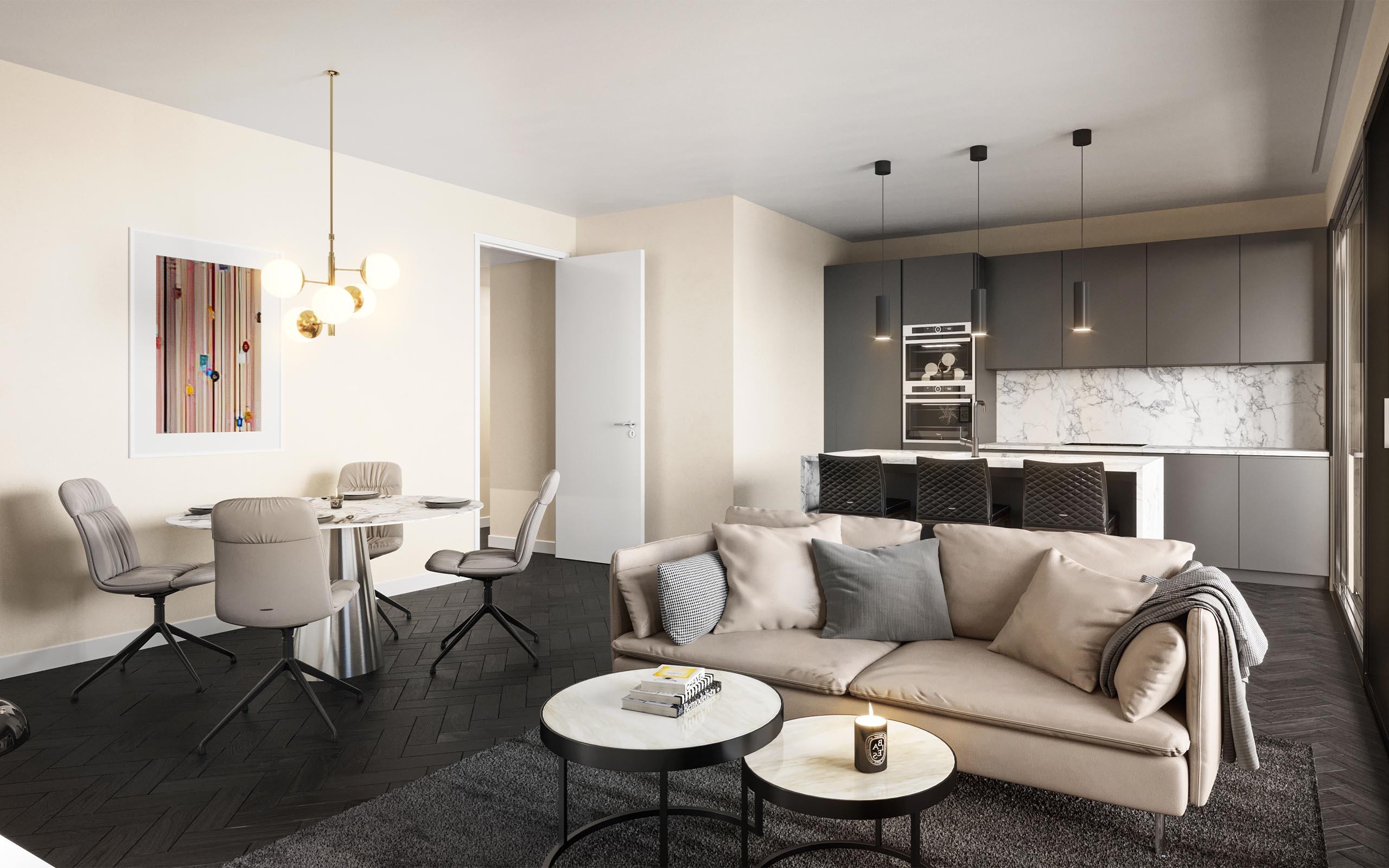 Interior CGI of The Pinnacle Residential Development, Mount Merrion, Dublin.