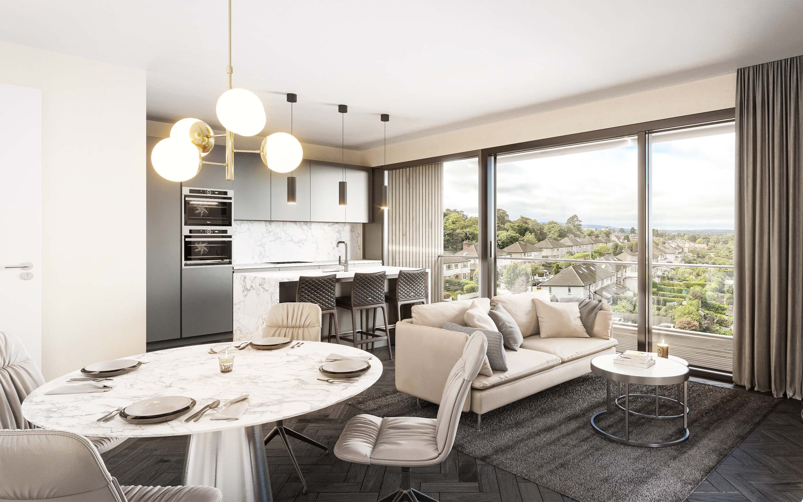Interior CGI of The Pinnacle Residential Development, Mount Merrion, Dublin.