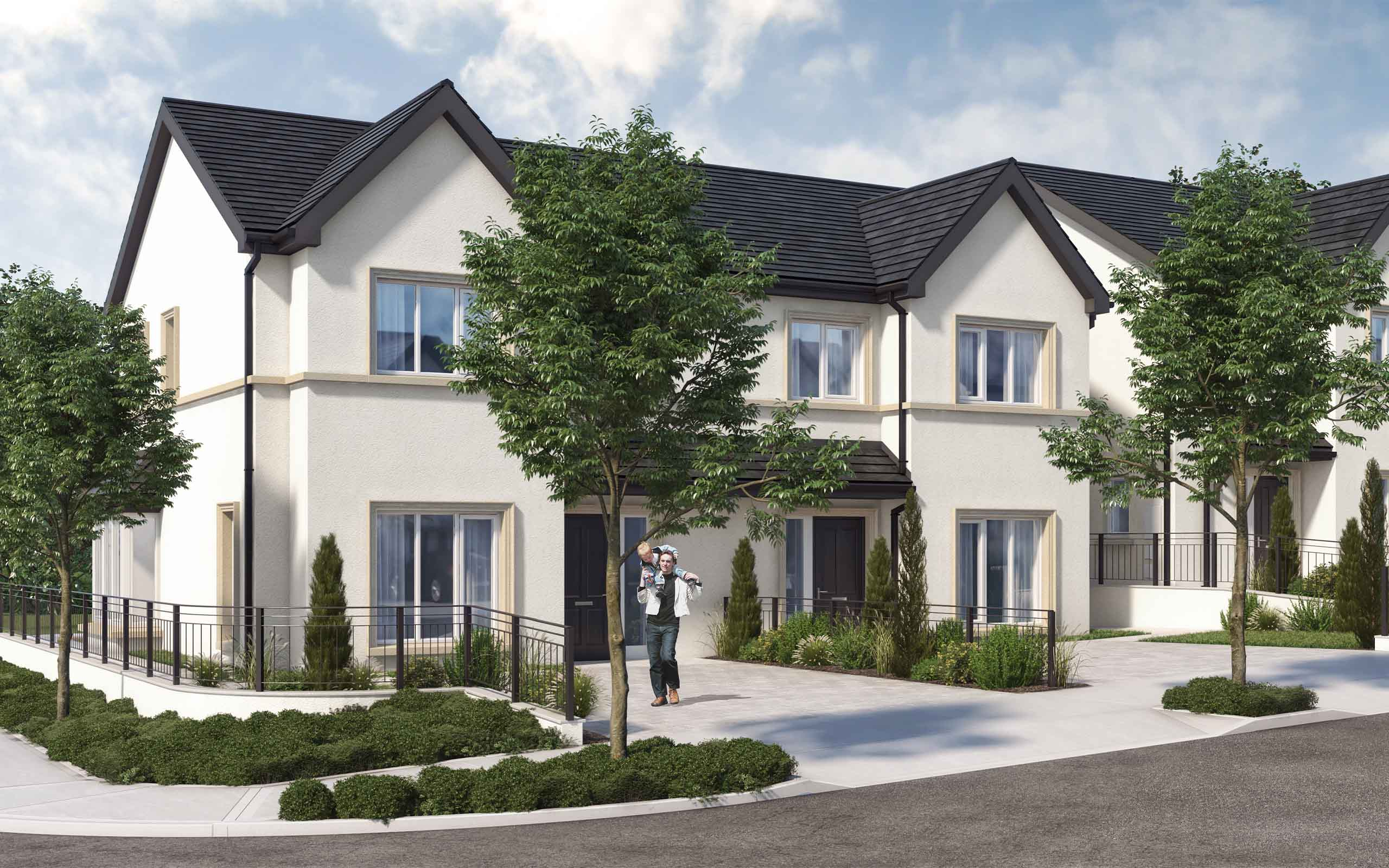 Architectural CGI of Housing Development in Ballinglanna, Glanmire