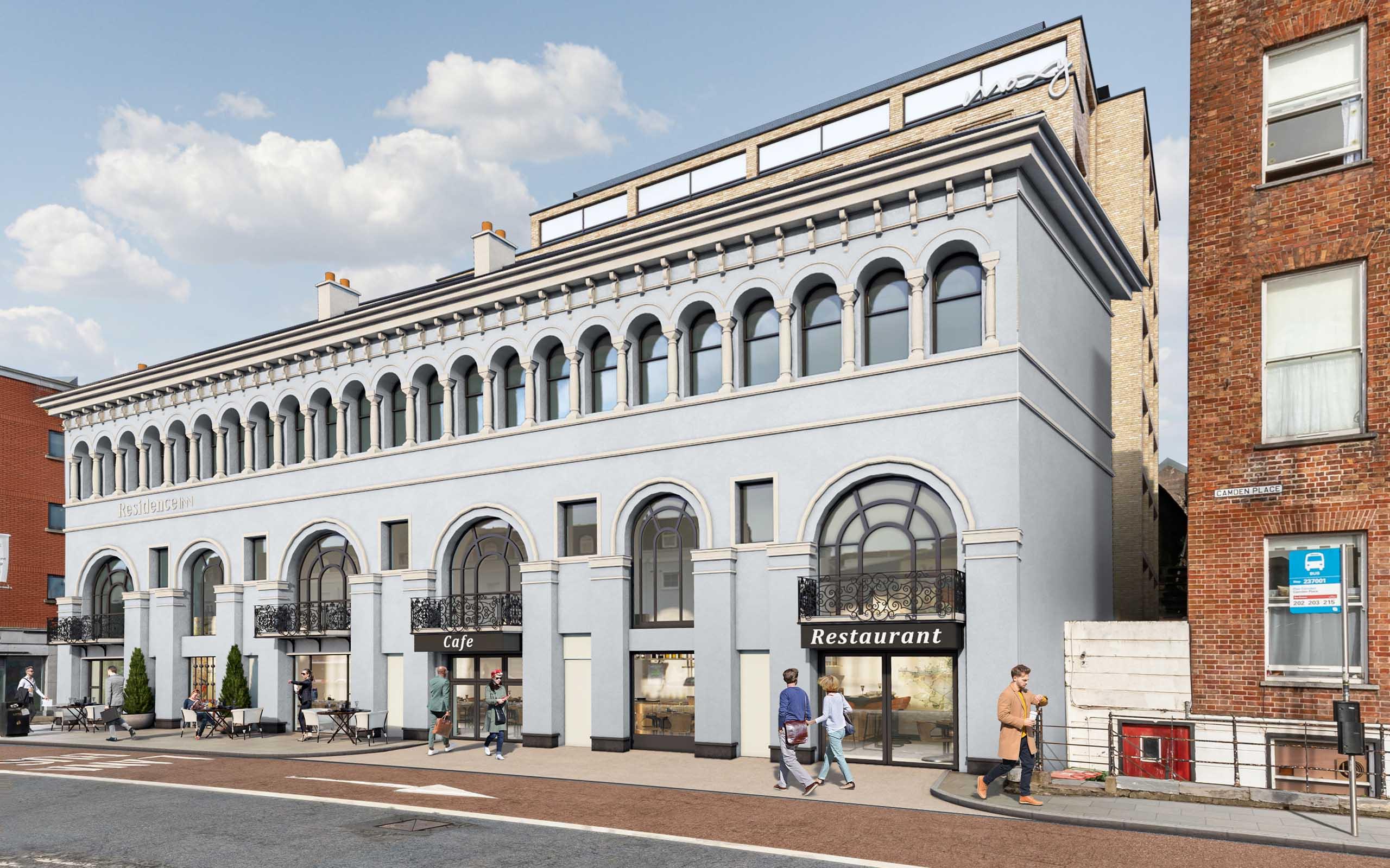 CGI Presentation Photomontage of Hotel Development at Camden Quay Cork