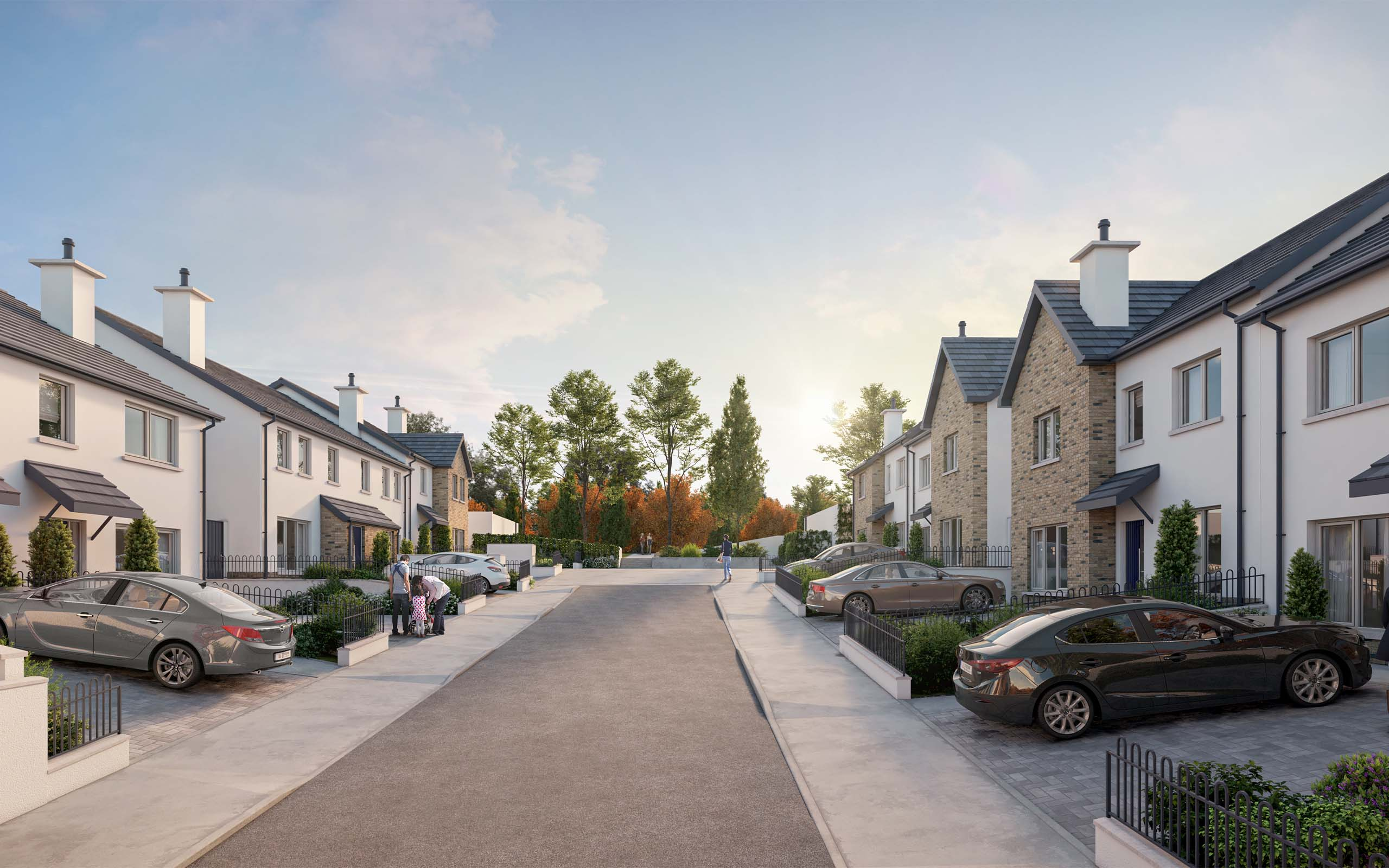 Architectural CGI of Kinsealy Woods Housing Development, Kinsealy