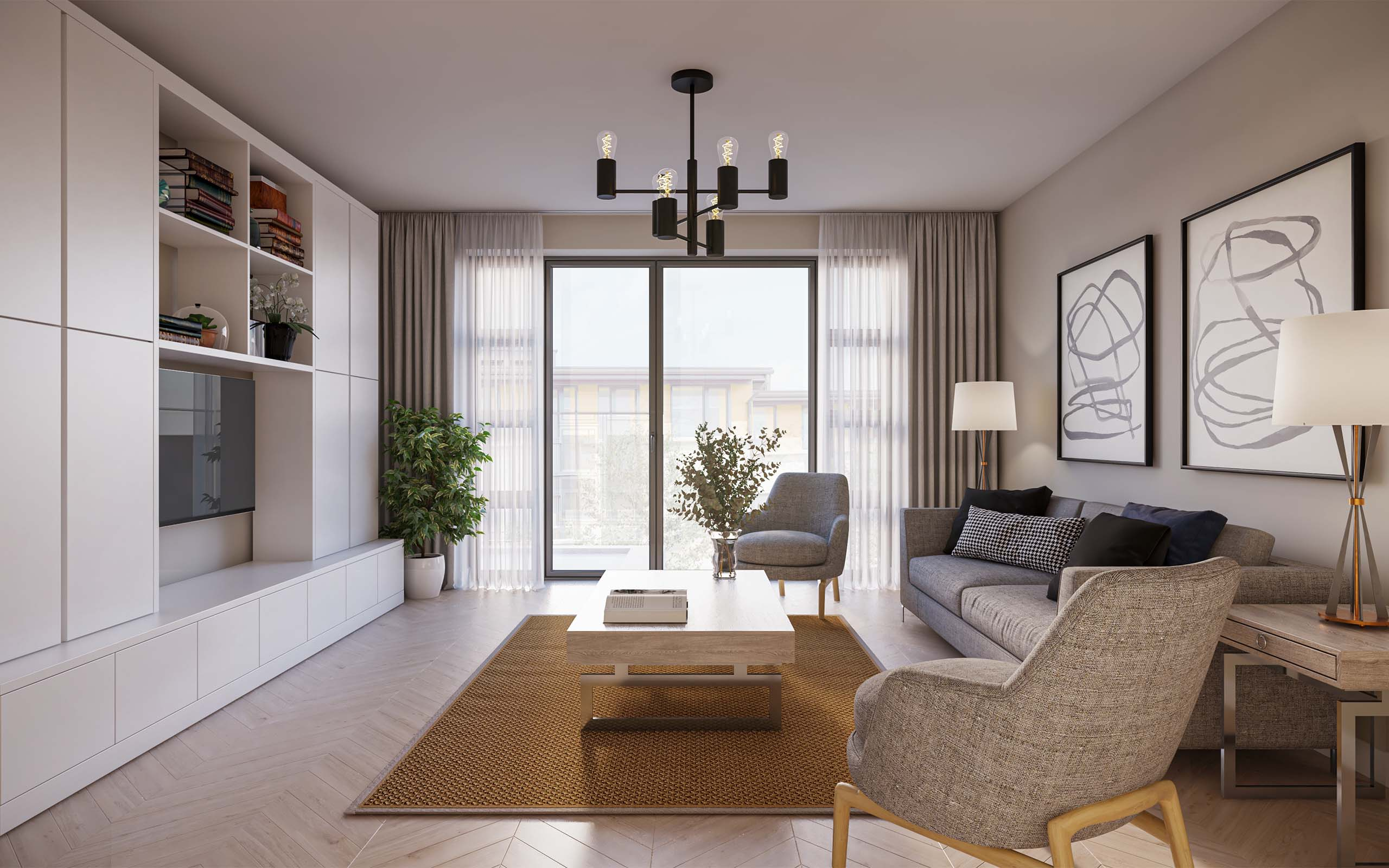 Interior CGI of Apartments in Barnageeragh Cove in Skerries, North County Dublin.