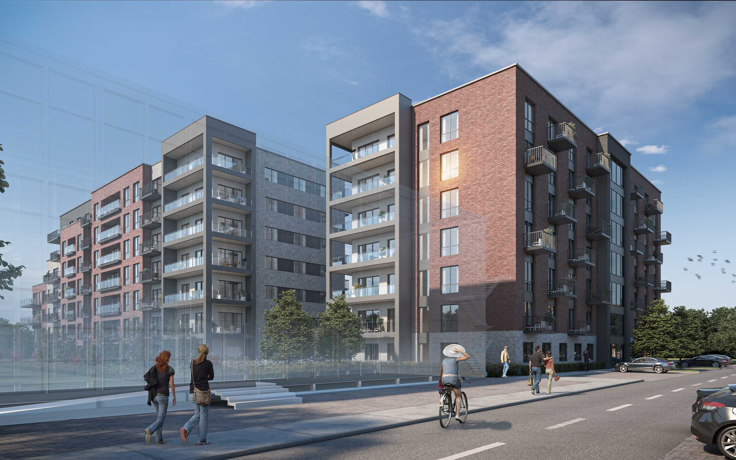 Architectural CGI of BTR Apartments in Glen Abbey, Tallaght.