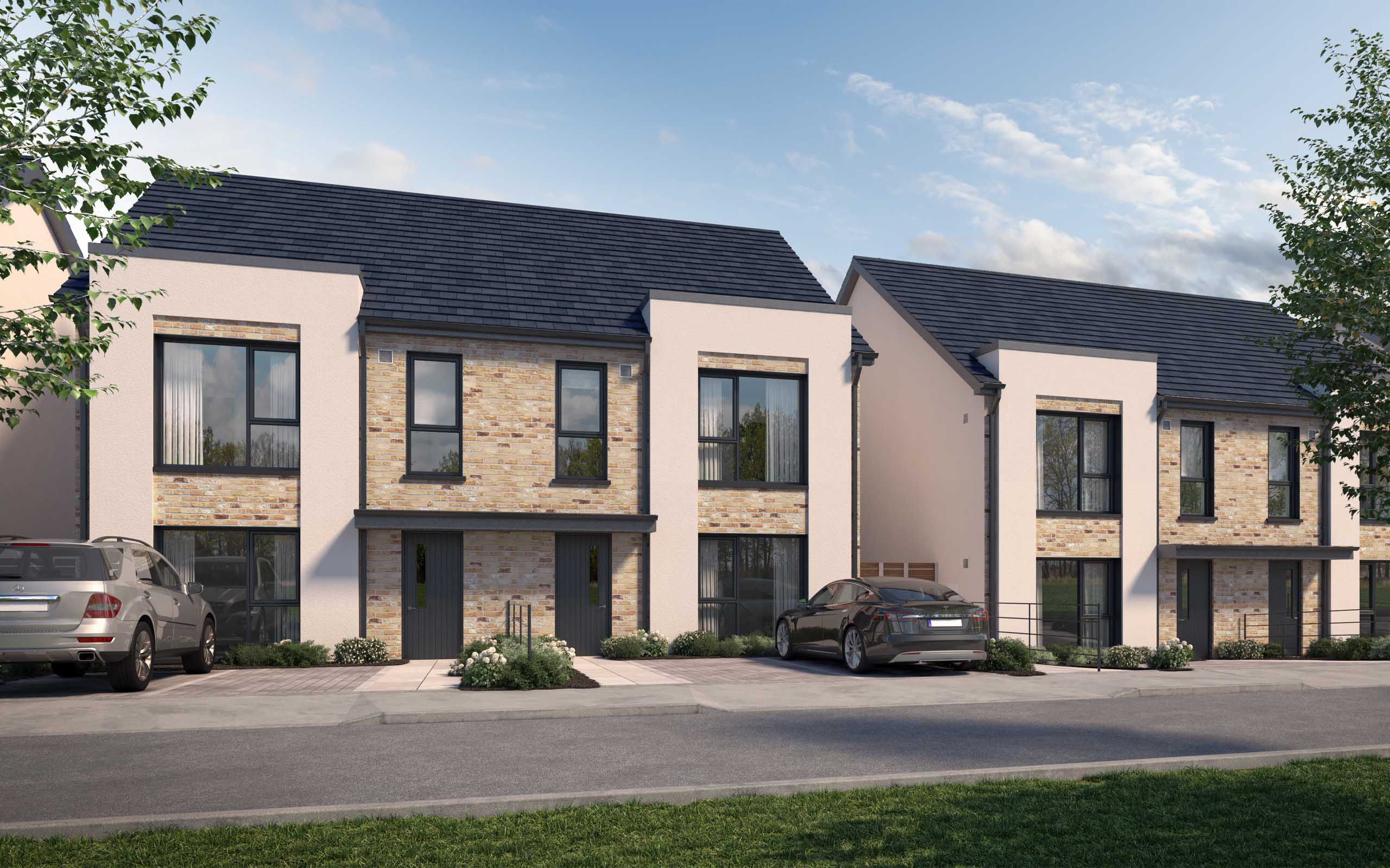 Architectural CGI of Skylark Development in Portmarnock