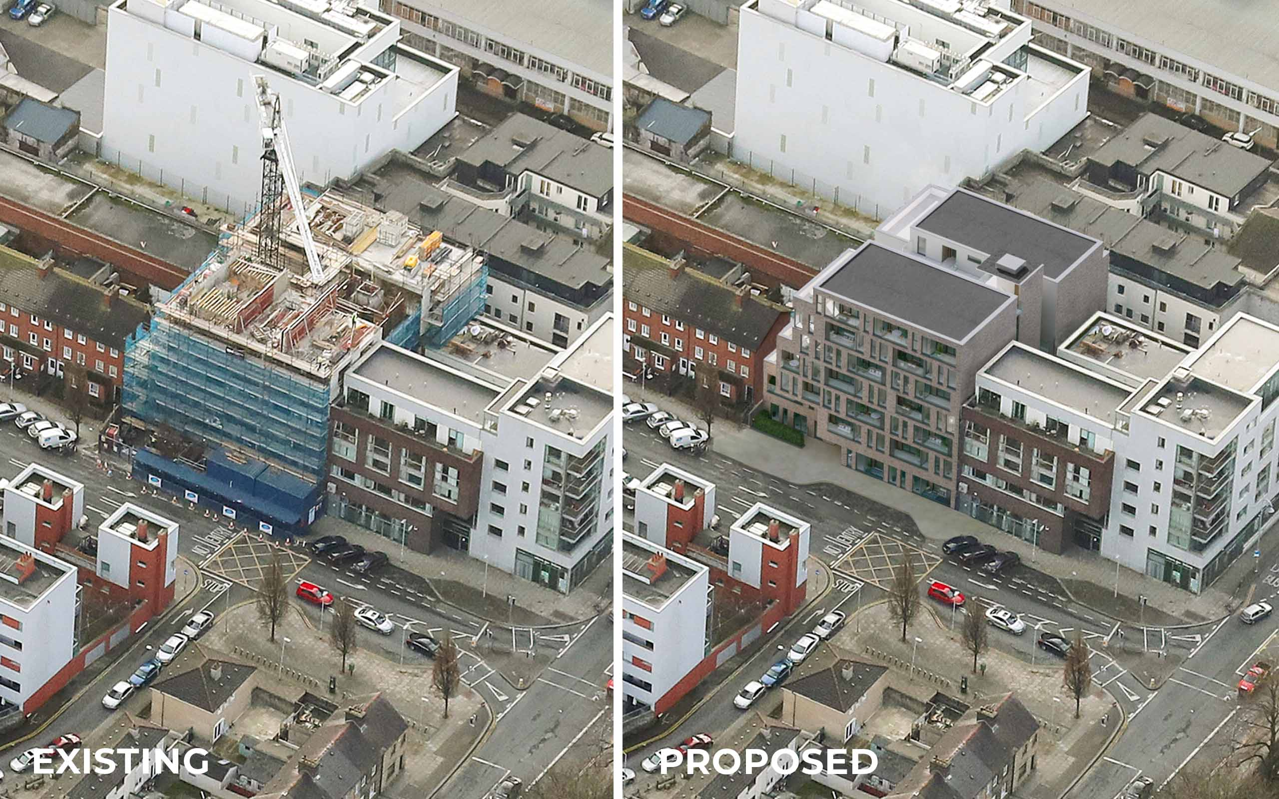Aerial photomontage of 19/20 Blackhall Street in Smithfield