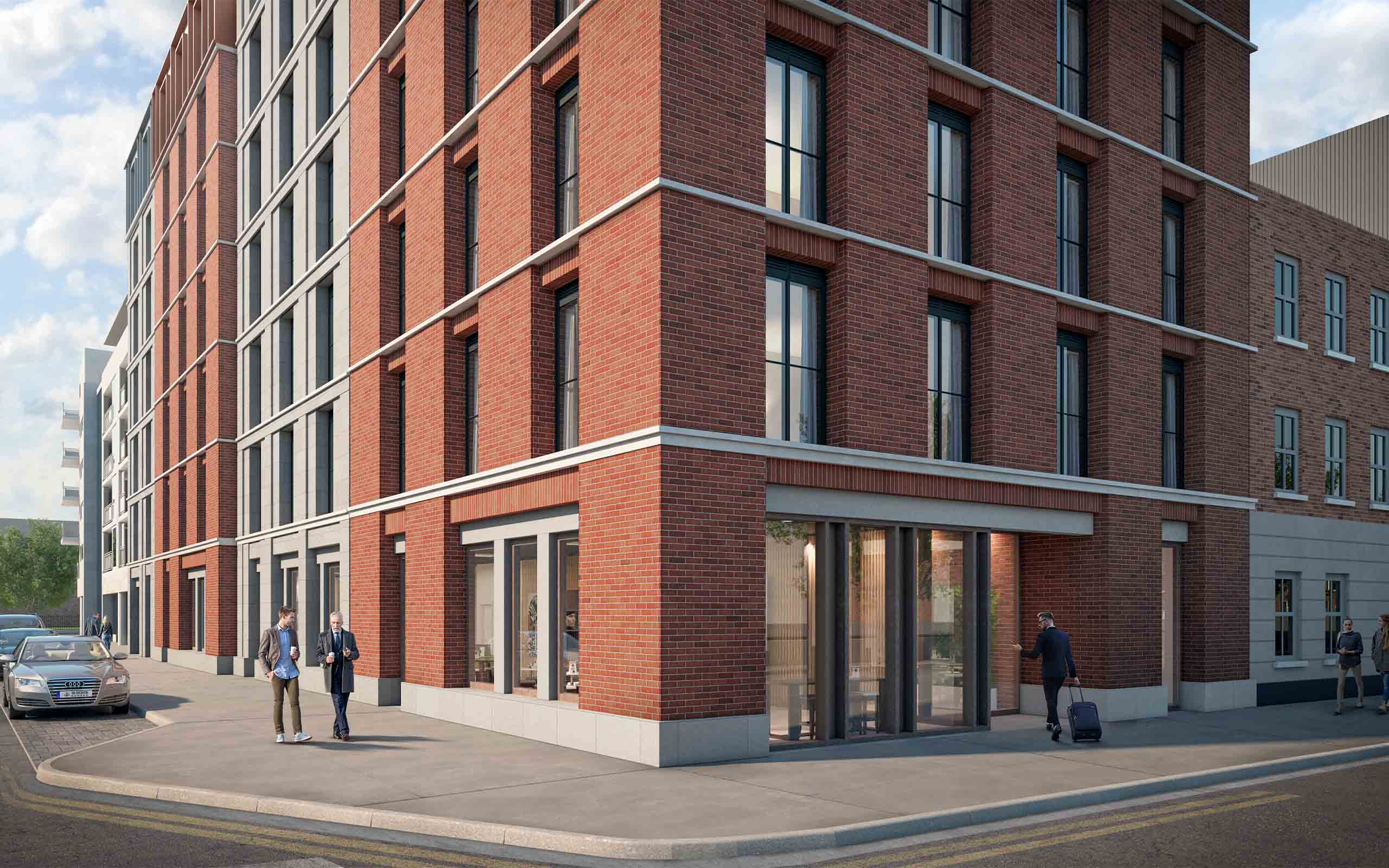 Architectural CGI of Hotel at Usher's Quay