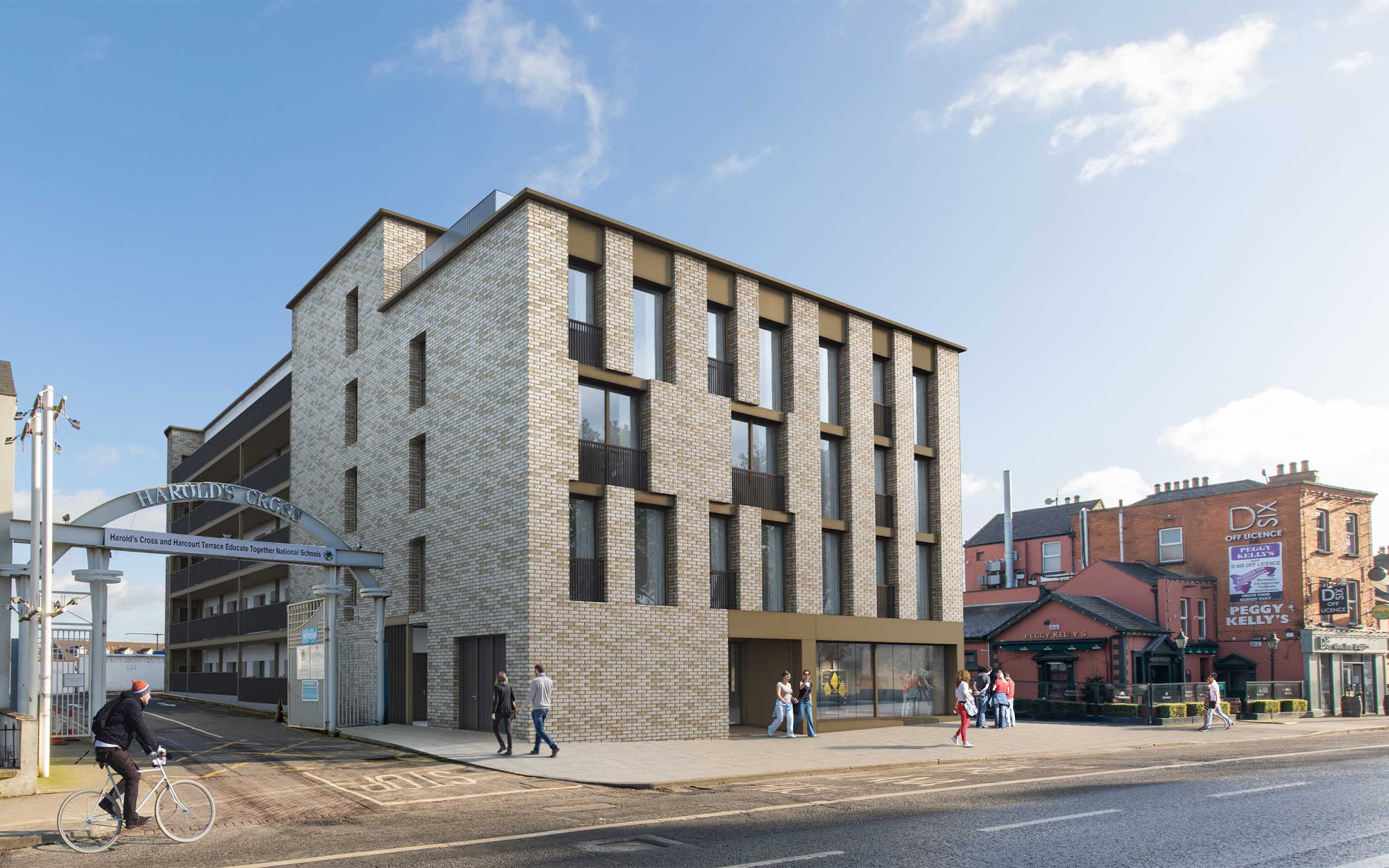 Architectural CGI of BTR Apartments in Harold's Cross