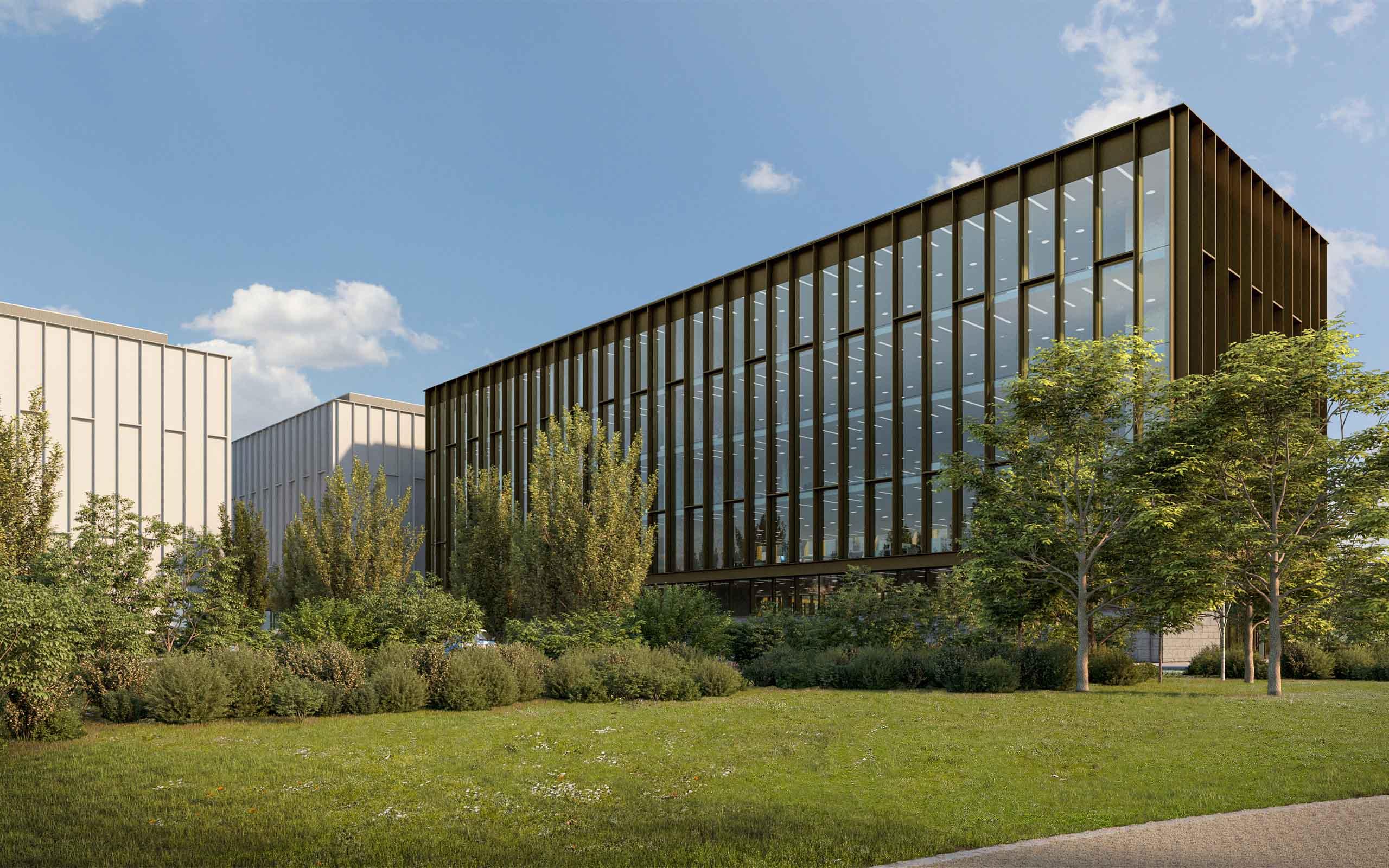 Architectural CGI of Business Park in Scurlockstown, Trim