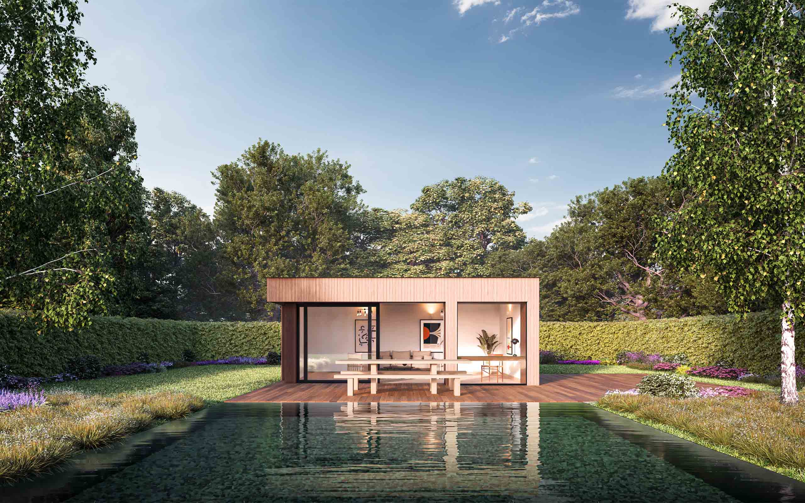 Architectural CGI of MOA Garden Pod