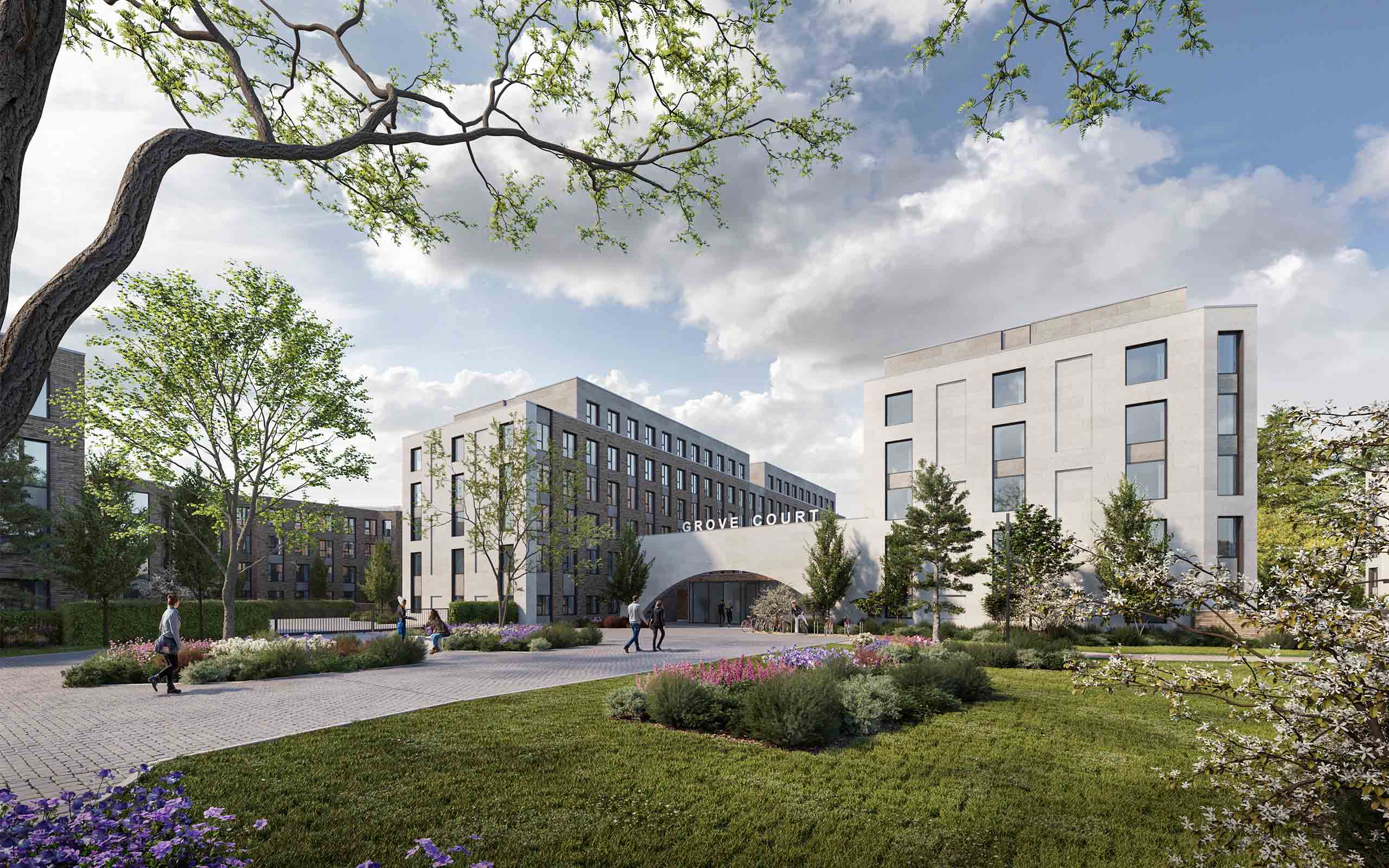Architectural CGI of Student Accommodation in Goatstown