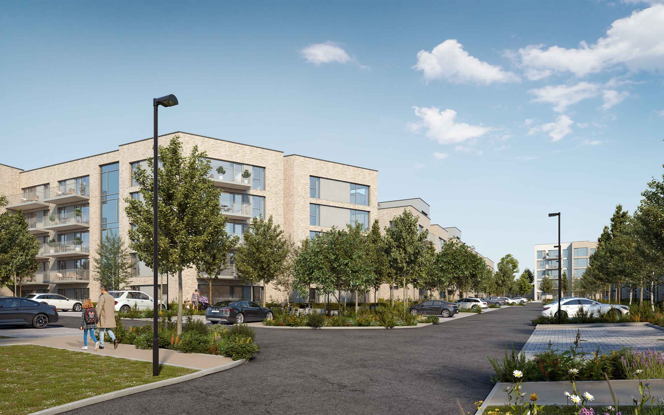 Architectural CGI of SHD in Whitepines, Dublin 16
