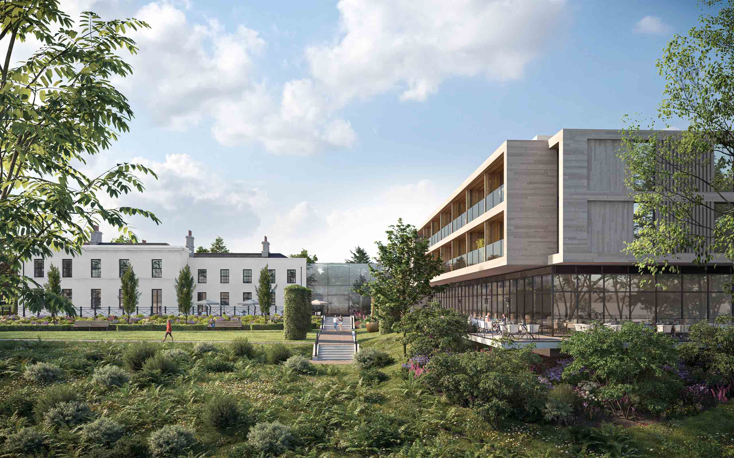 Architectural CGI of Luxury 5-Star Hotel in Plans for Bective House, Meath.