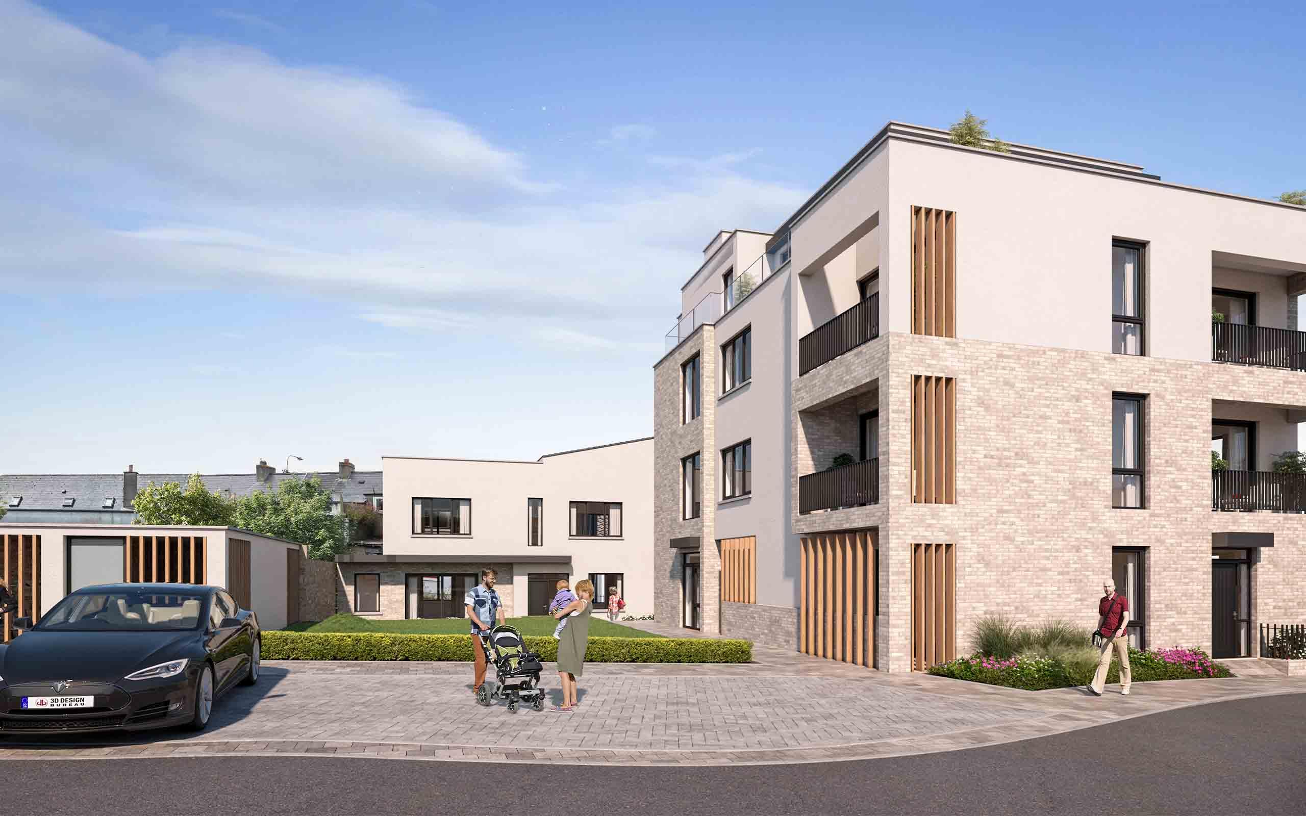 Architectural CGI of Residential Development in Kilkenny