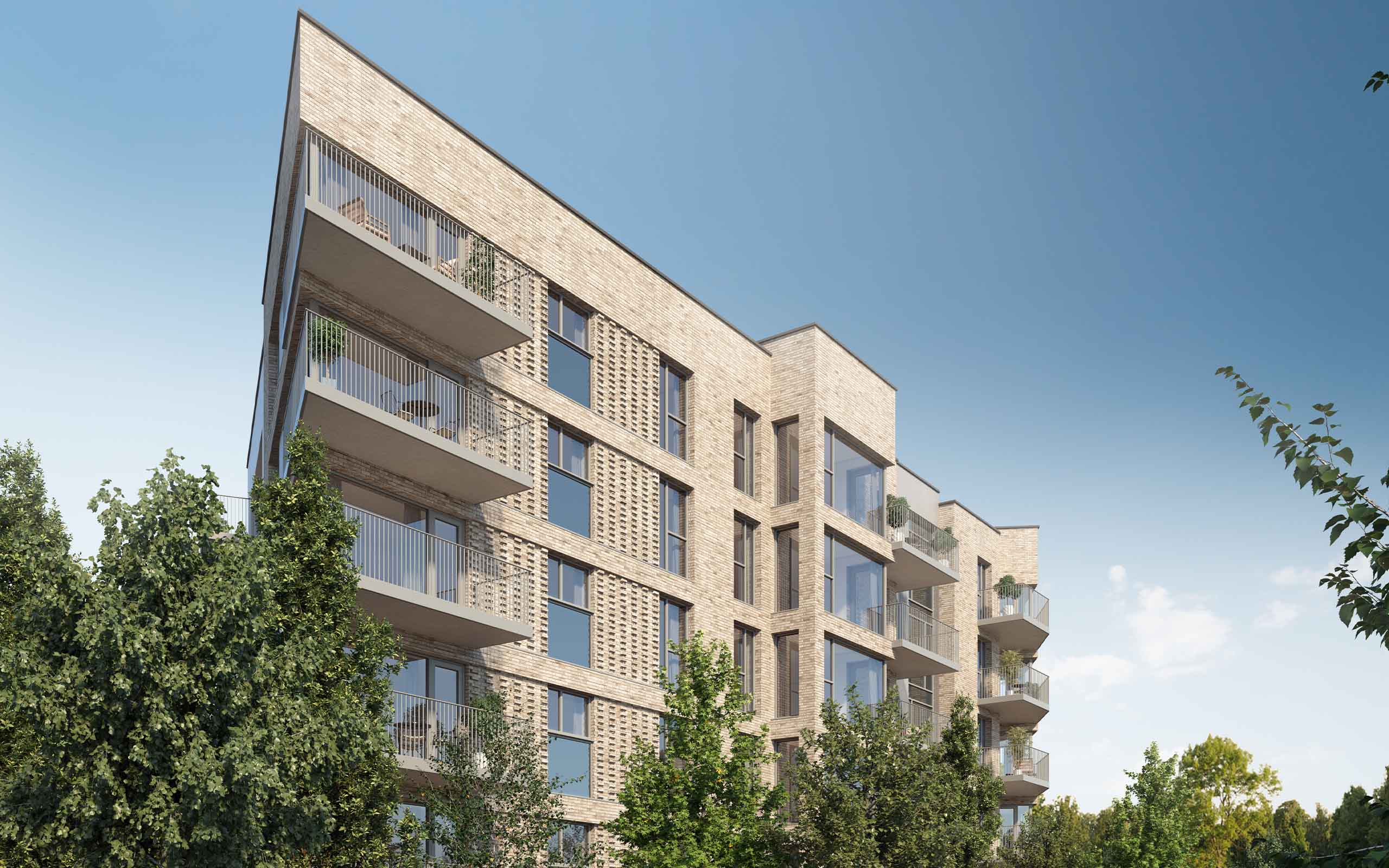 Architectural CGI of White Pines East in Woodlands, Dublin 16.