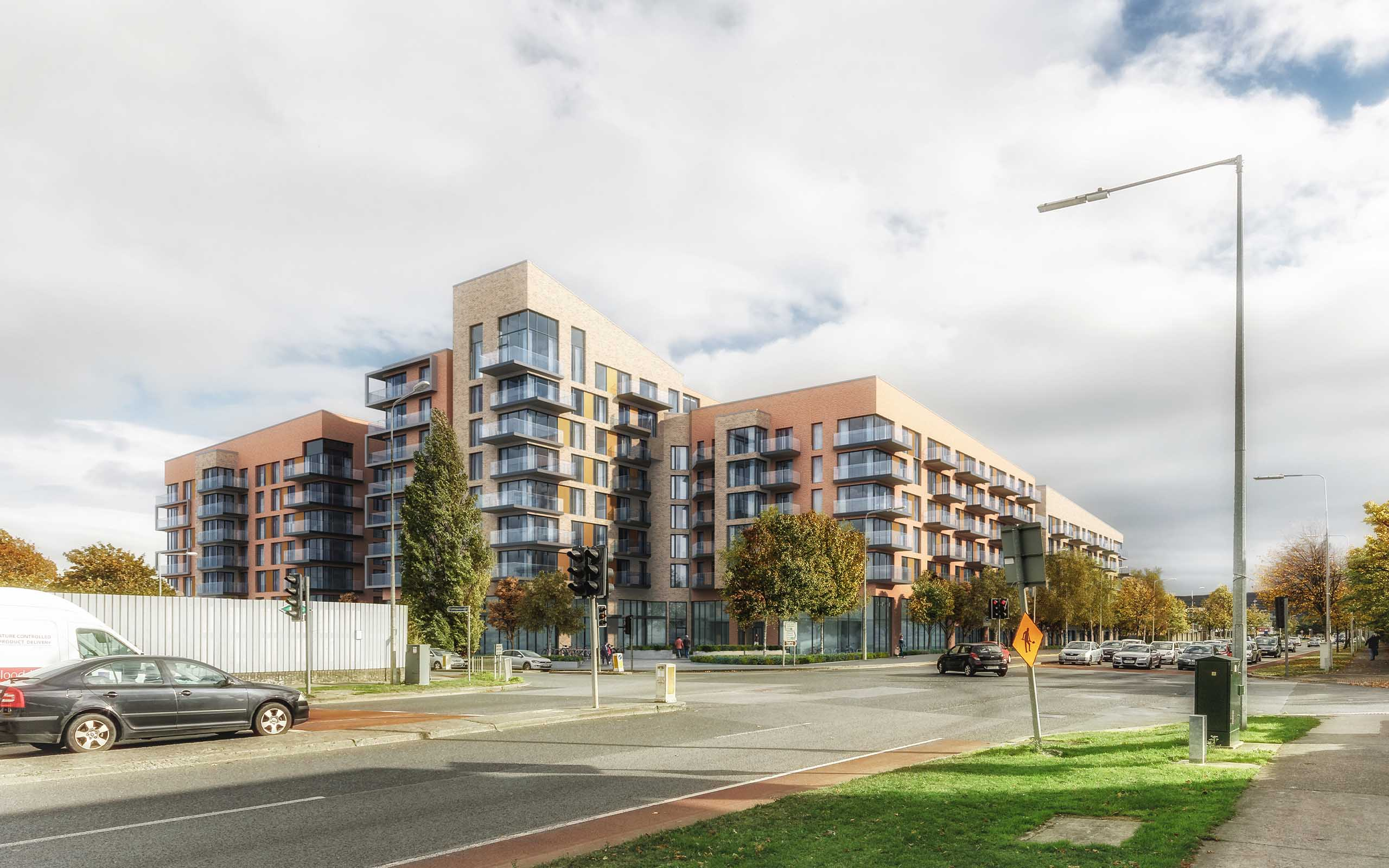 328 Units at Airton Plaza, Airton and Belgard Road, Tallaght. 3D Visualisation by 3D Design Bureau.