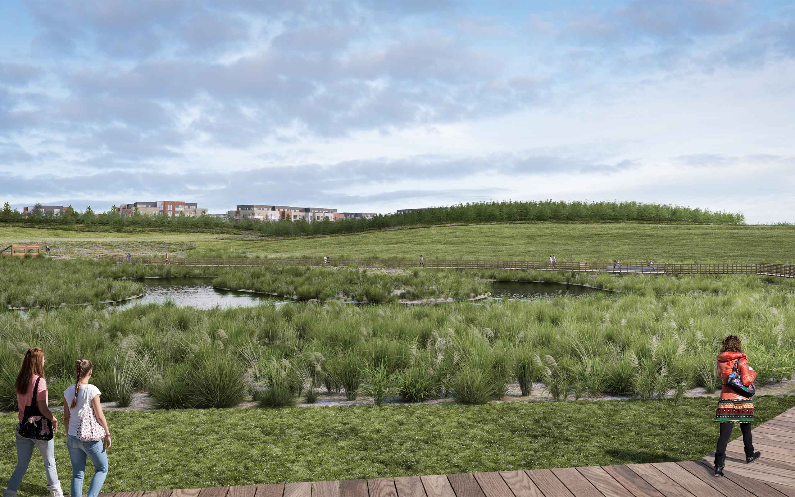 Architectural CGI of Residential Development in Donabate.