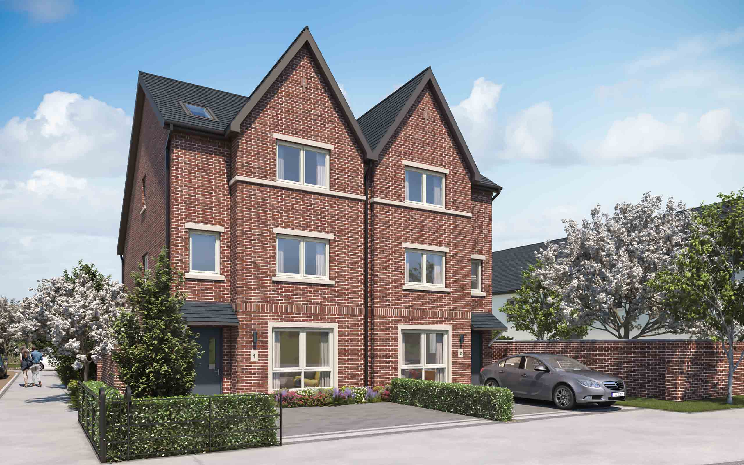 Architectural CGI of Mercy Vale residential development in Cherrywood, Dublin.